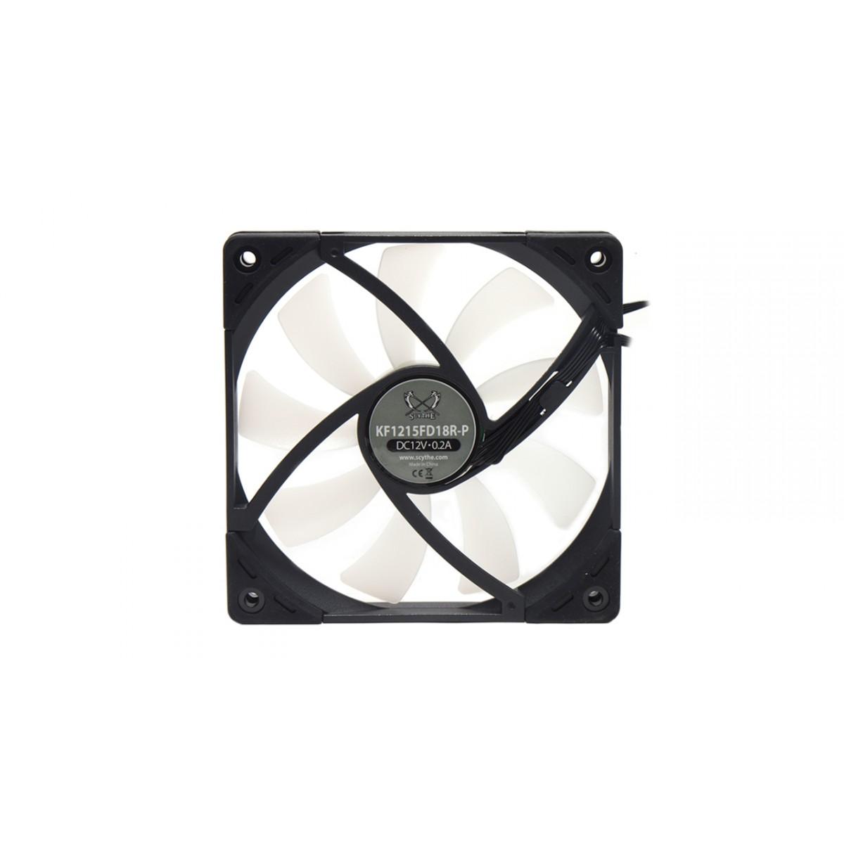 Cooler para Gabinete Scythe Kaze Flex 120mm Slim RGB PWM, KF1215FD18R-P