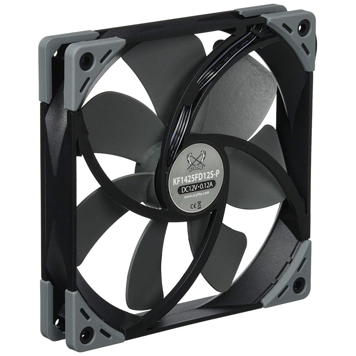 Cooler para Gabinete Scythe Kaze Flex 140, 140mm 1200 RPM, KF1425FD12S-P