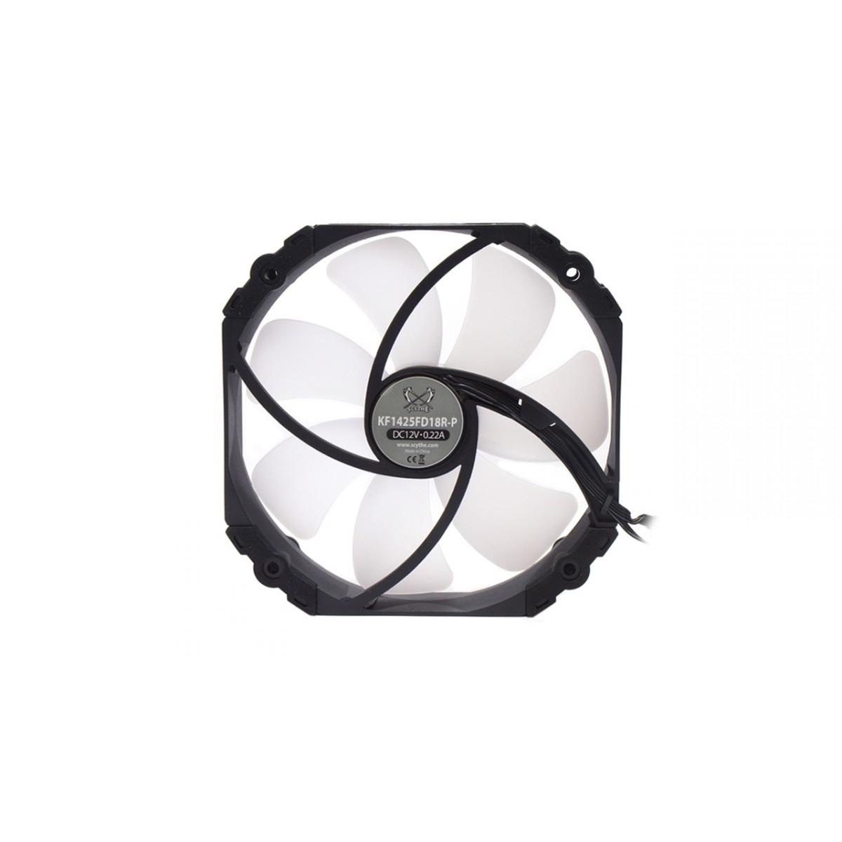 Cooler para Gabinete Scythe Kaze flex 140mm RGB PWM, KF1425FD18R-P