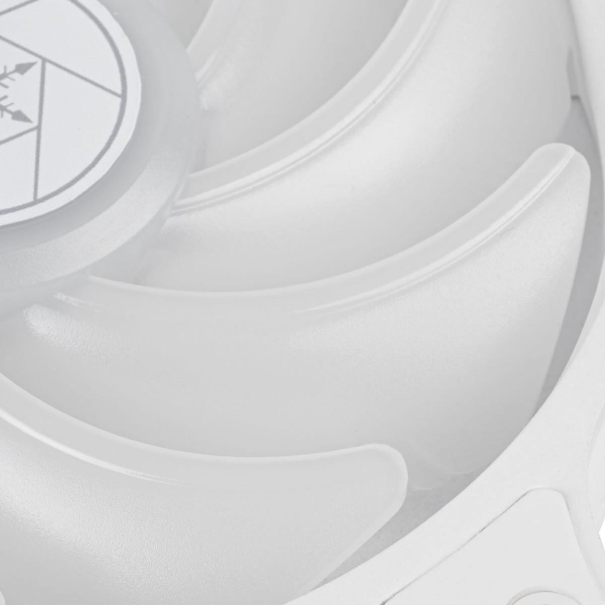 Cooler para Gabinete SilverStone Air Blazer 120RW, ARGB, White, 120mm, SST-AB120RW-ARGB