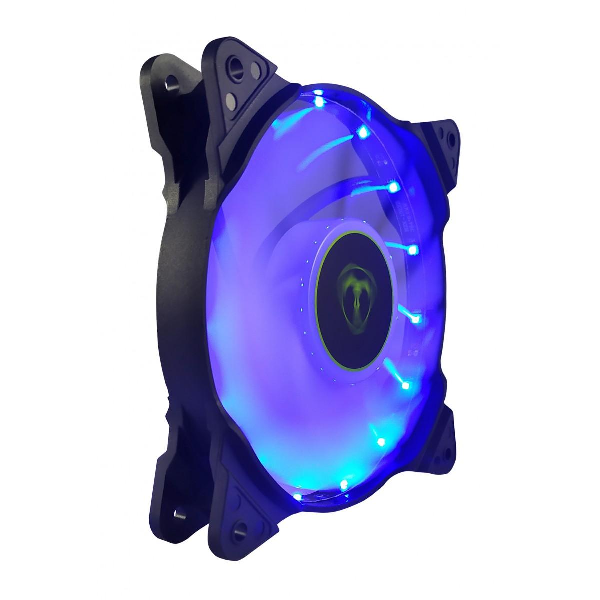 Cooler Para Gabinete T-Dagger 120mm, LED BLUE, T-TGF300-B
