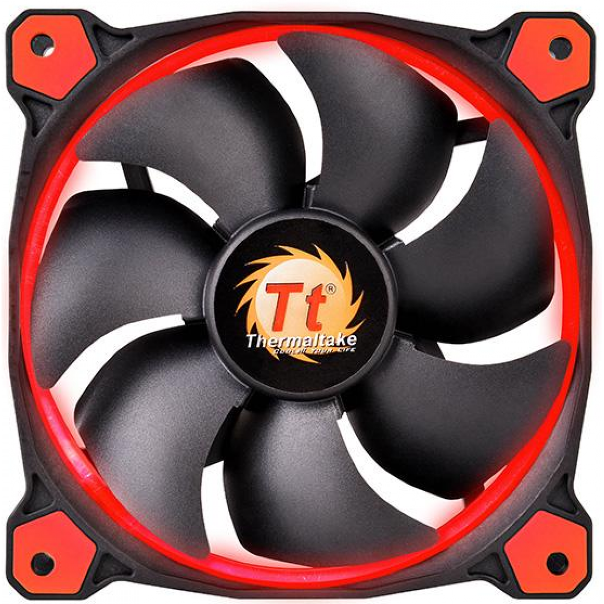 Cooler Para Gabinete Thermaltake Riing 12, LED Red 120mm, CL-F038-PL12RE-A