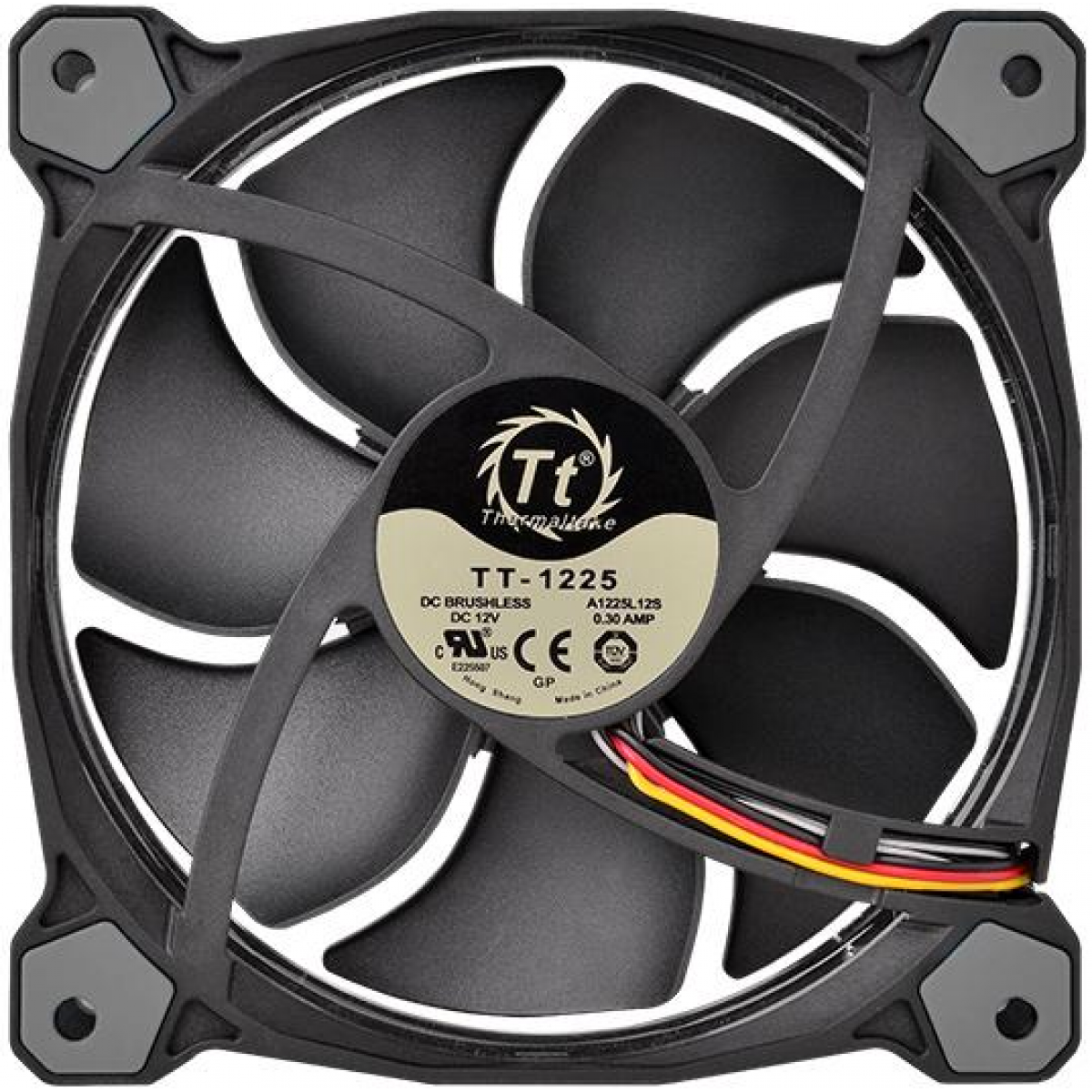 Kit Fan com 3 Unidades Thermaltake Riing 14, RGB 140mm, CL-F043-PL14SW-B
