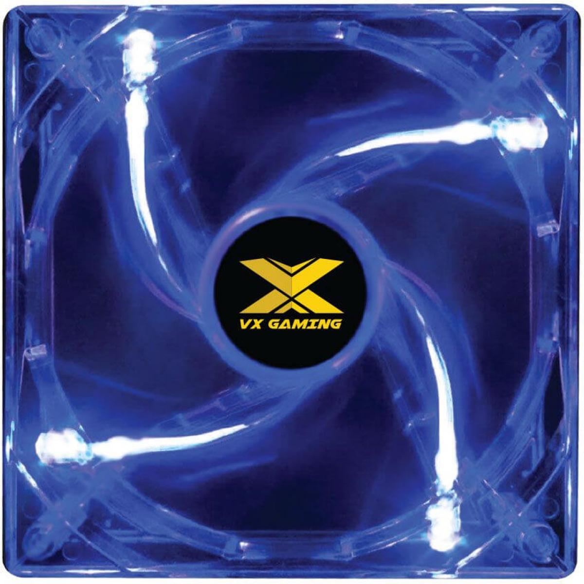 Cooler Para Gabinete Vx Gaming V.Light, LED Blue 120mm