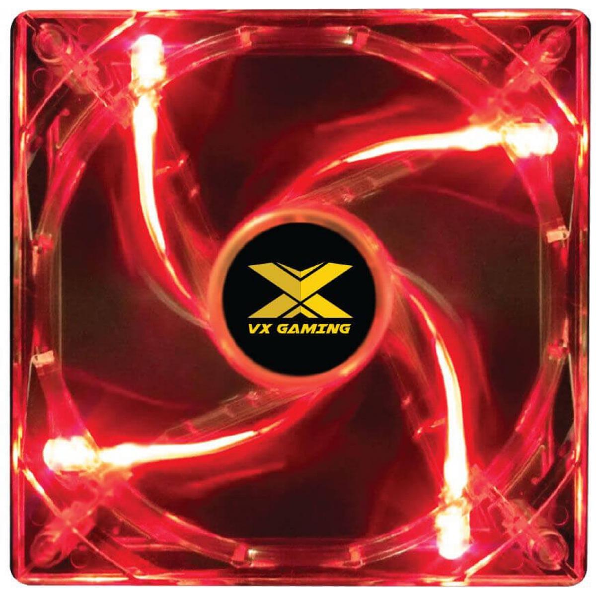 Cooler Para Gabinete VX Gaming V.Light, LED Red 120mm