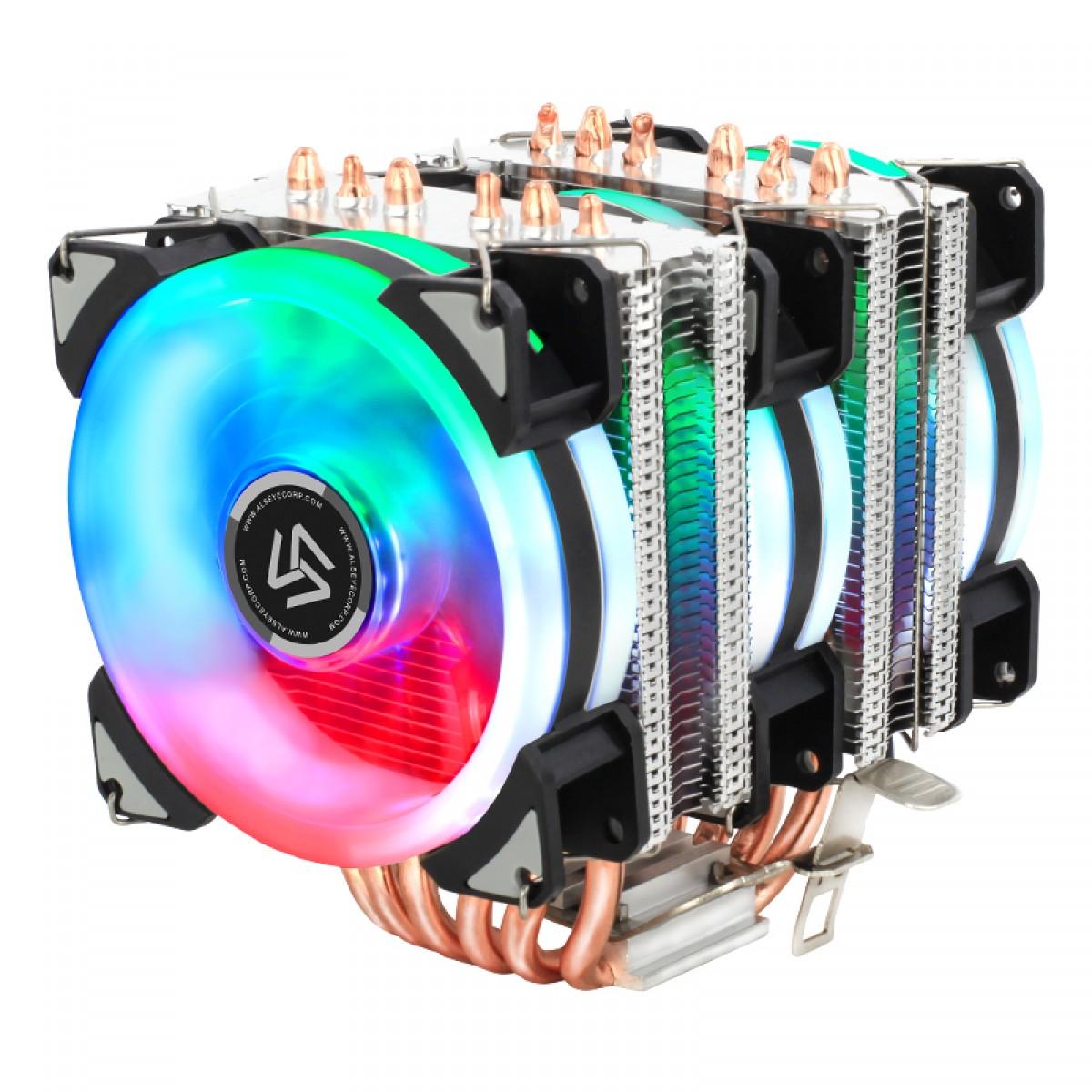 Cooler para Processador Alseye DR90, 120mm, RGB, Intel-AMD, DR90 60DT