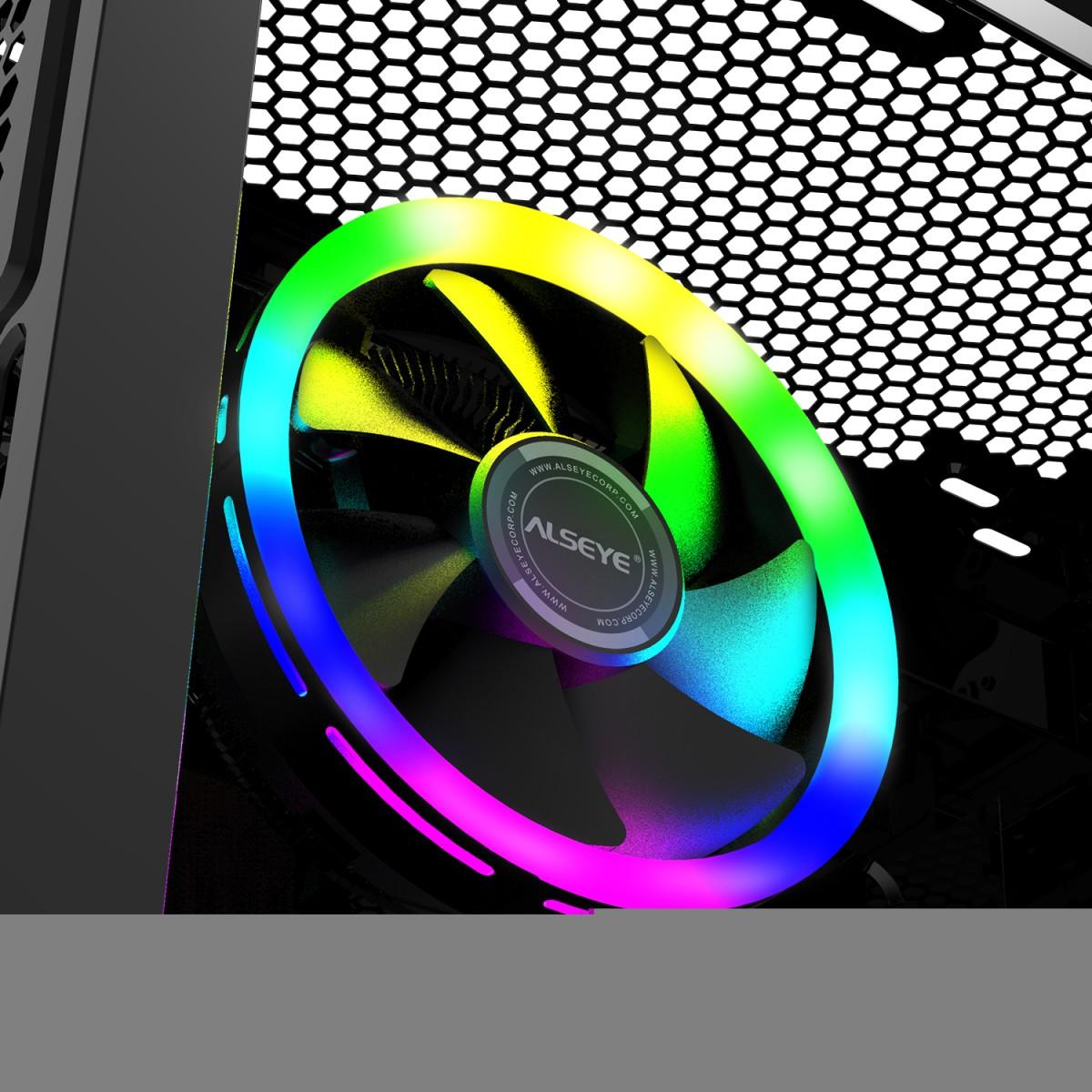 Cooler para Processador Alseye H120Z, 120mm, Intel-AMD