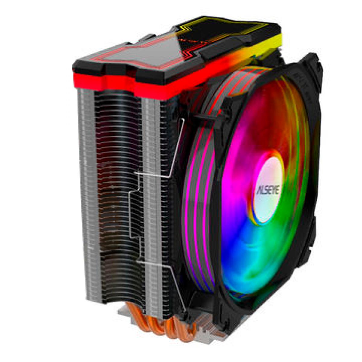 Cooler para Processador Alseye MAX120, 120mm, RGB, Black, Intel-AMD