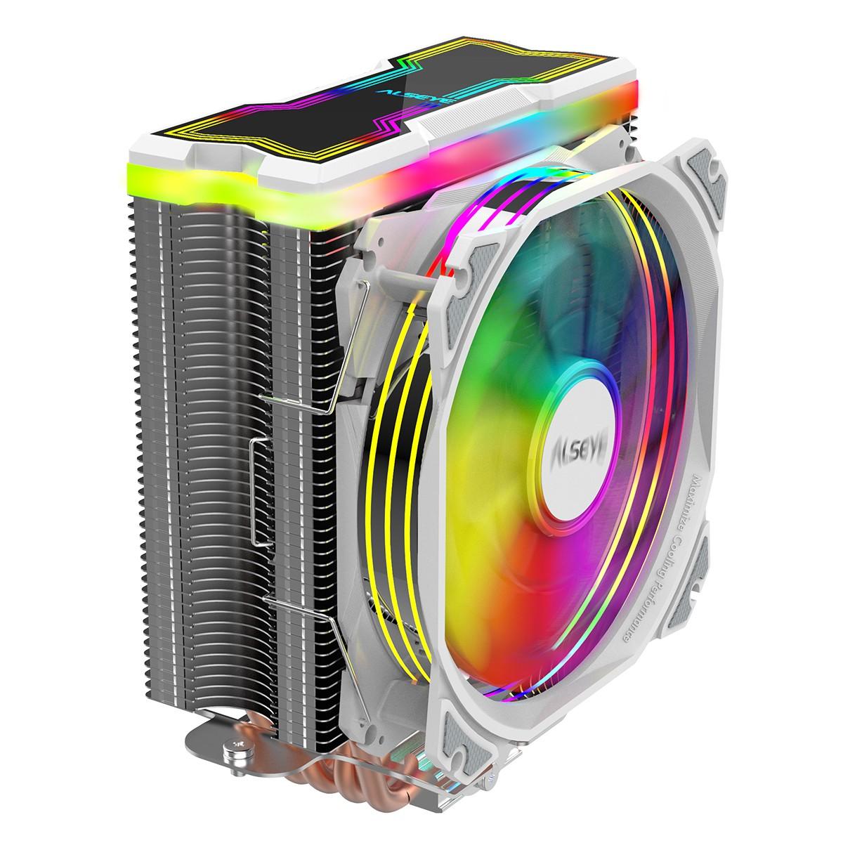 Cooler para Processador Alseye MAX120, 120mm, RGB, White, Intel-AMD