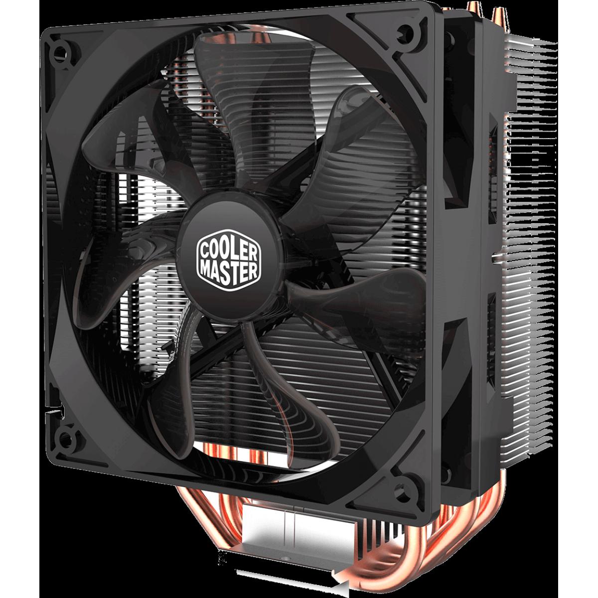 Cooler Para Processador Cooler Master HYPER 212, 120mm, Intel-AMD, Led Vermelho, RR-212L-16PR-R1