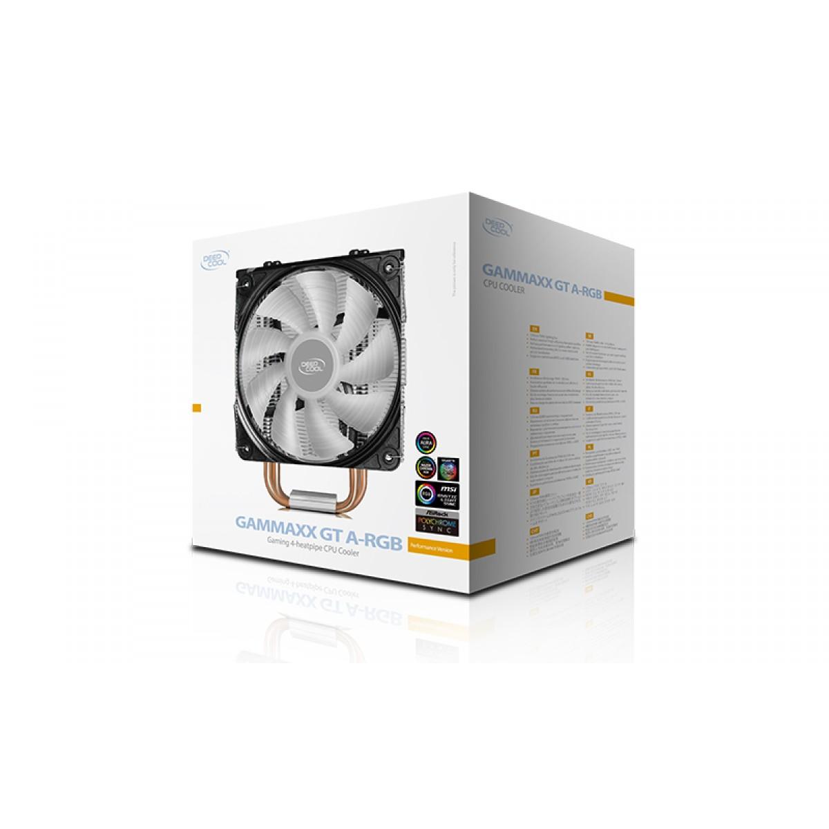 Cooler para Processador DeepCool Gammaxx GT A-RGB, 120mm, Intel- AMD, DP-MCH4-GMX-GT-ARGB