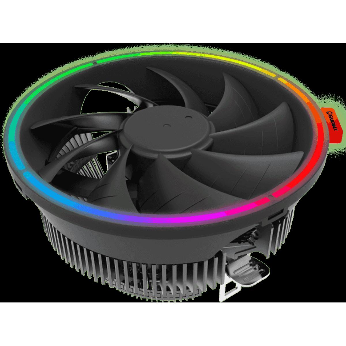 Cooler para Processador Gamemax Gamma 200, Rainbow, 125mm, Intel-AMD