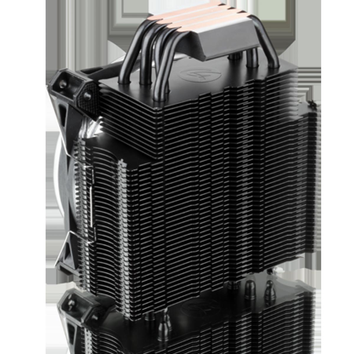 Cooler para Processador Raijintek LETO PRO Black, 120mm, Intel-AMD, 0R100073