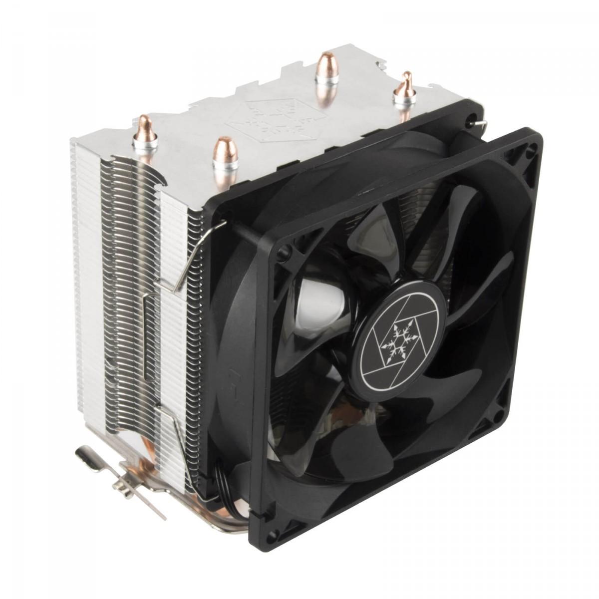 Cooler para Processador SilverStone KR03, 92mm, LED Blue, Intel-AMD, SST-KR03