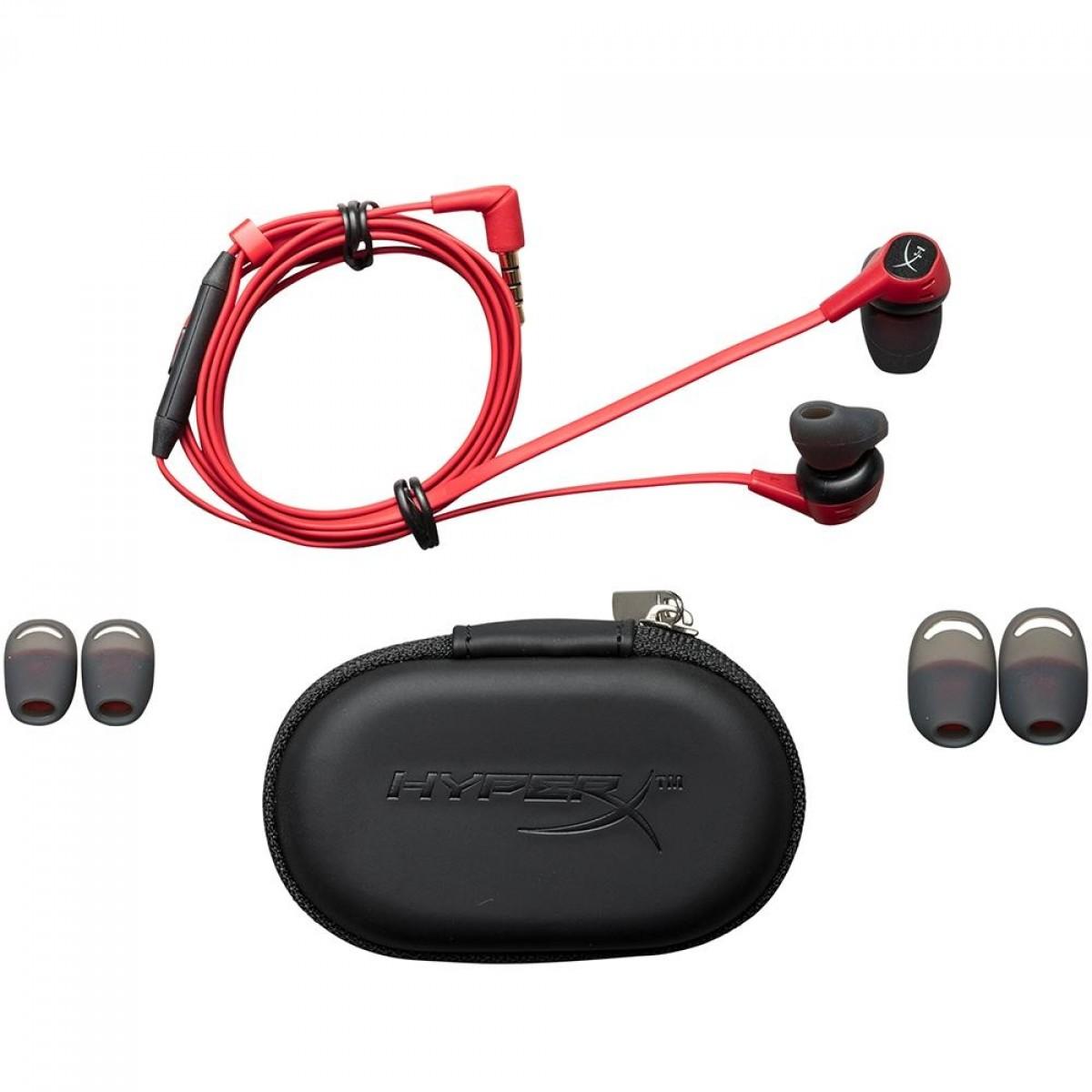 Fone de Ouvido HyperX Cloud EarBuds, Black/Red, HX-HSCEB-RD