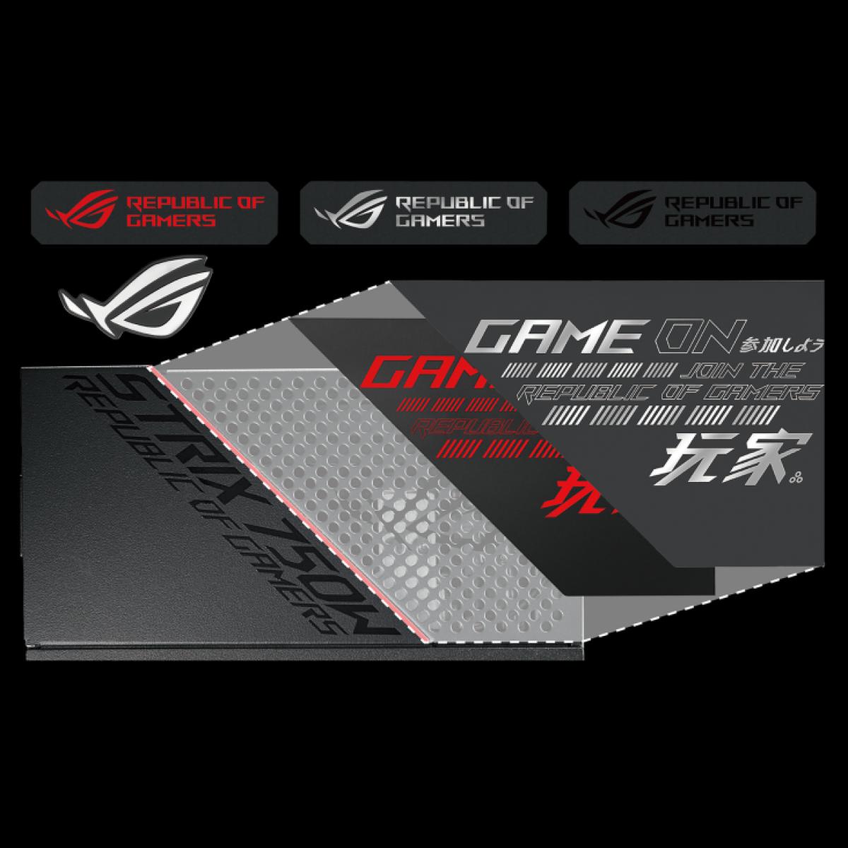 Fonte Asus ROG Strix 650G, 650W, 80 Plus Gold, Full Modular, RSSS03-650G1