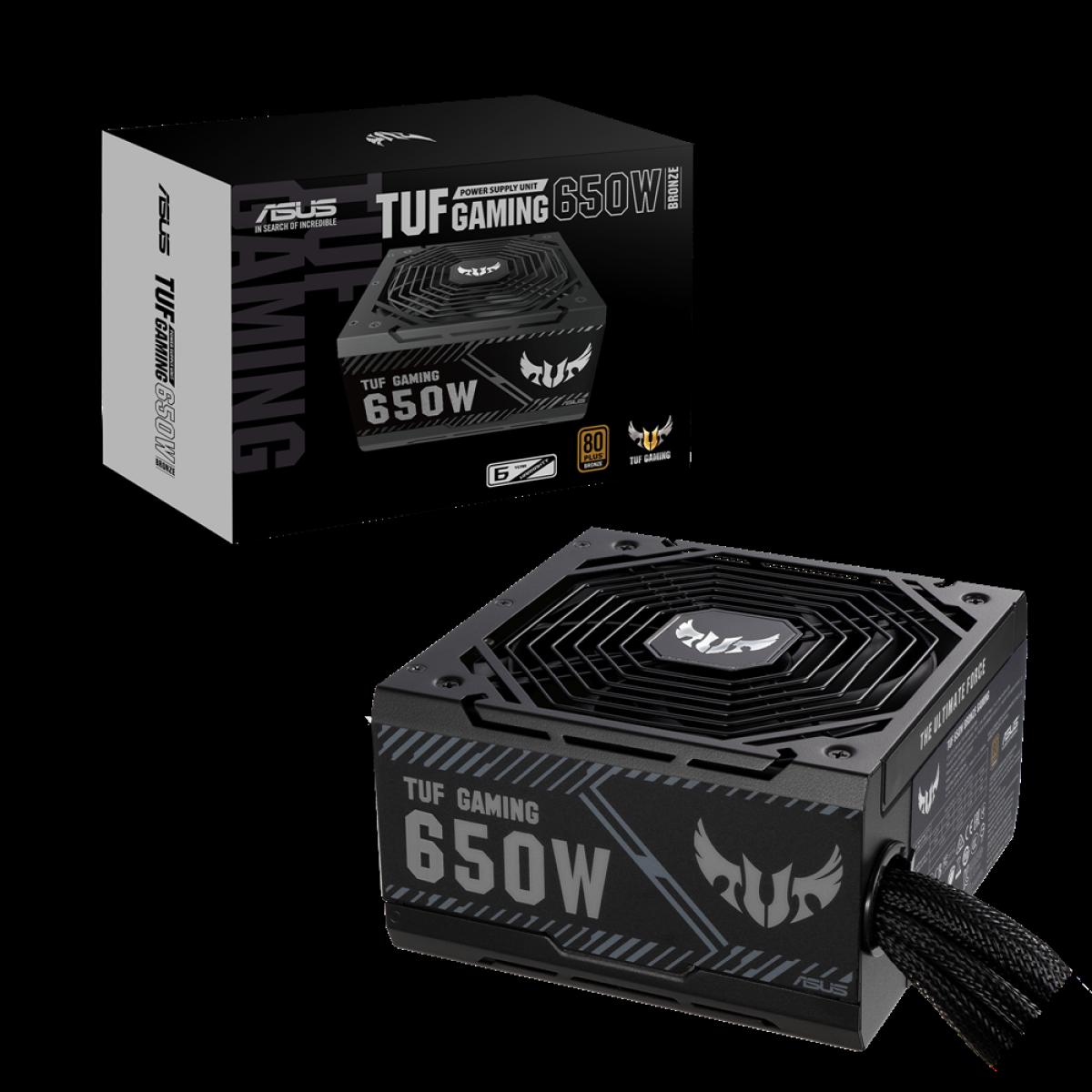 Fonte Asus TUF Gaming 650W, 80 Plus Bronze, TUF-GAMING-650B, 90YE00D1-B0NA00