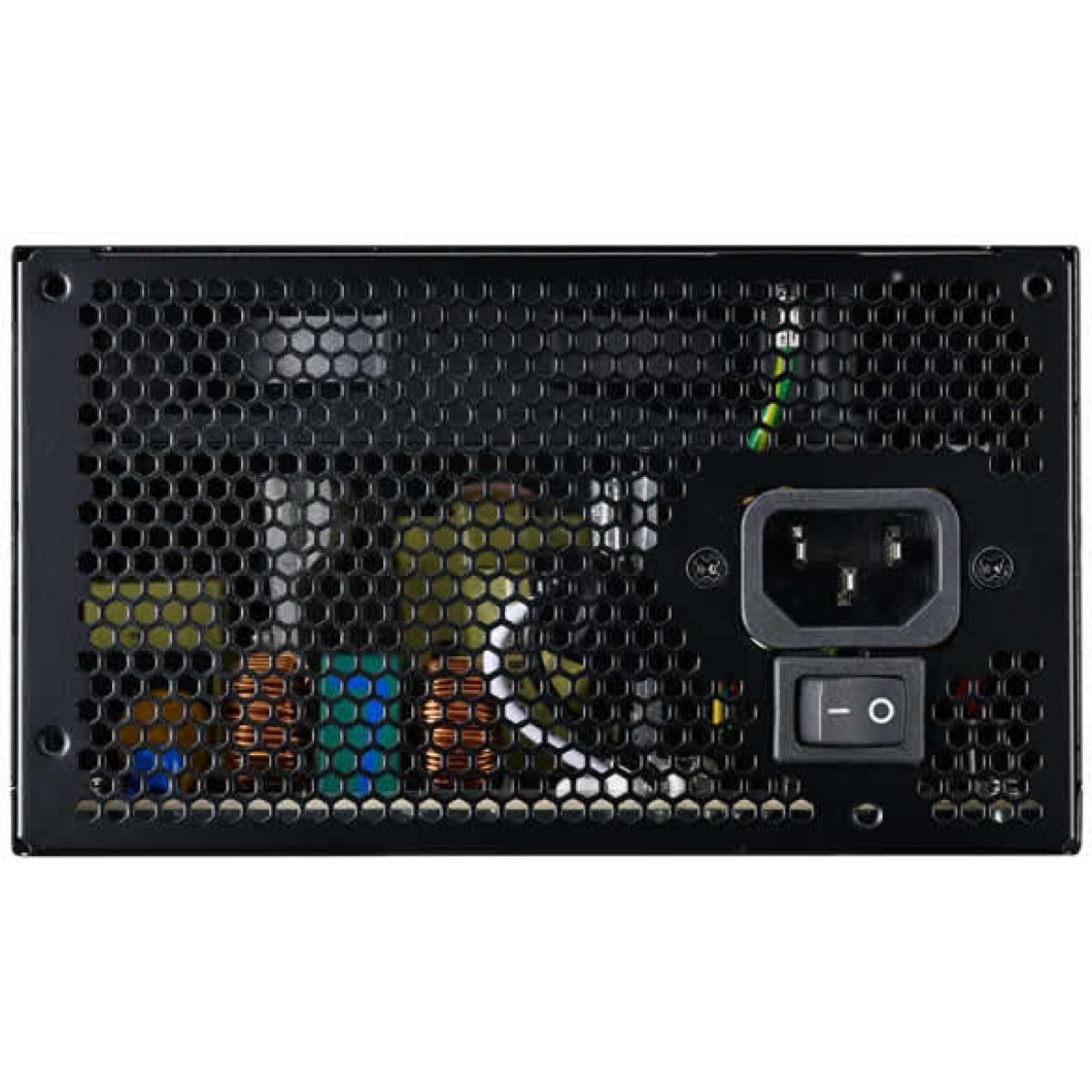 Fonte Cooler Master Masterwatt Lite 600W, 80 Plus White, PFC Ativo, ATX MPX-6001-ACAAW