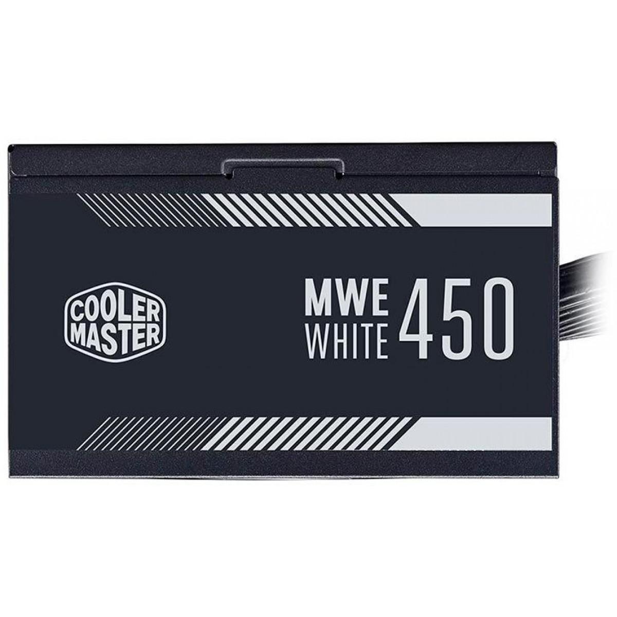 Fonte Cooler Master MWE 450W, 80 Plus White, PFC Ativo, MPE-4501-ACAAW-BR - Open Box