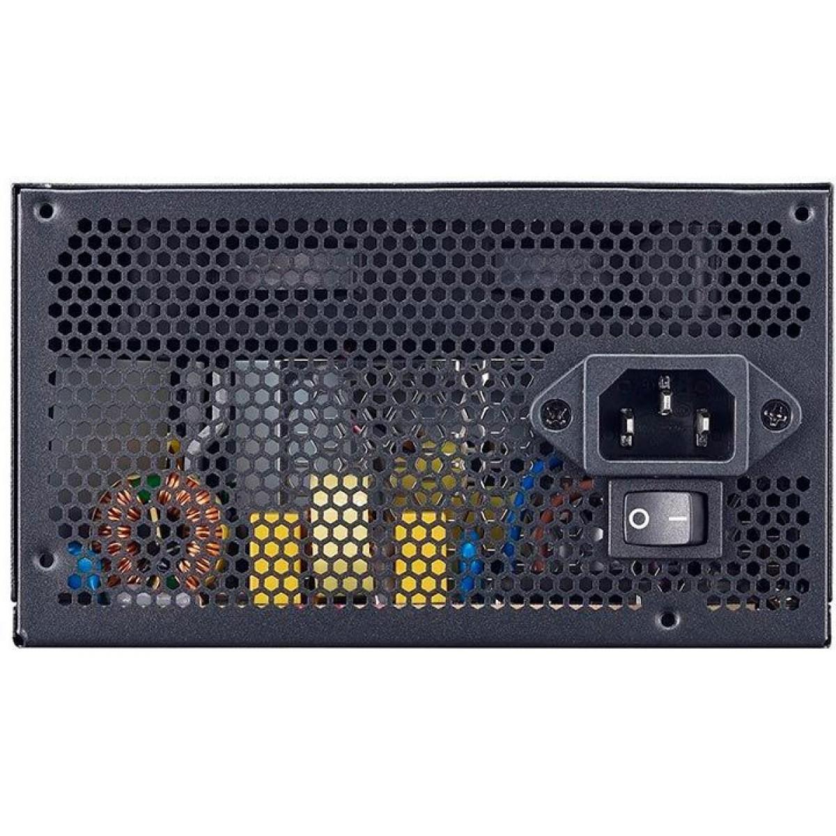 Fonte Cooler Master MWE 450W, 80 Plus White, PFC Ativo, MPE-4501-ACAAW-BR