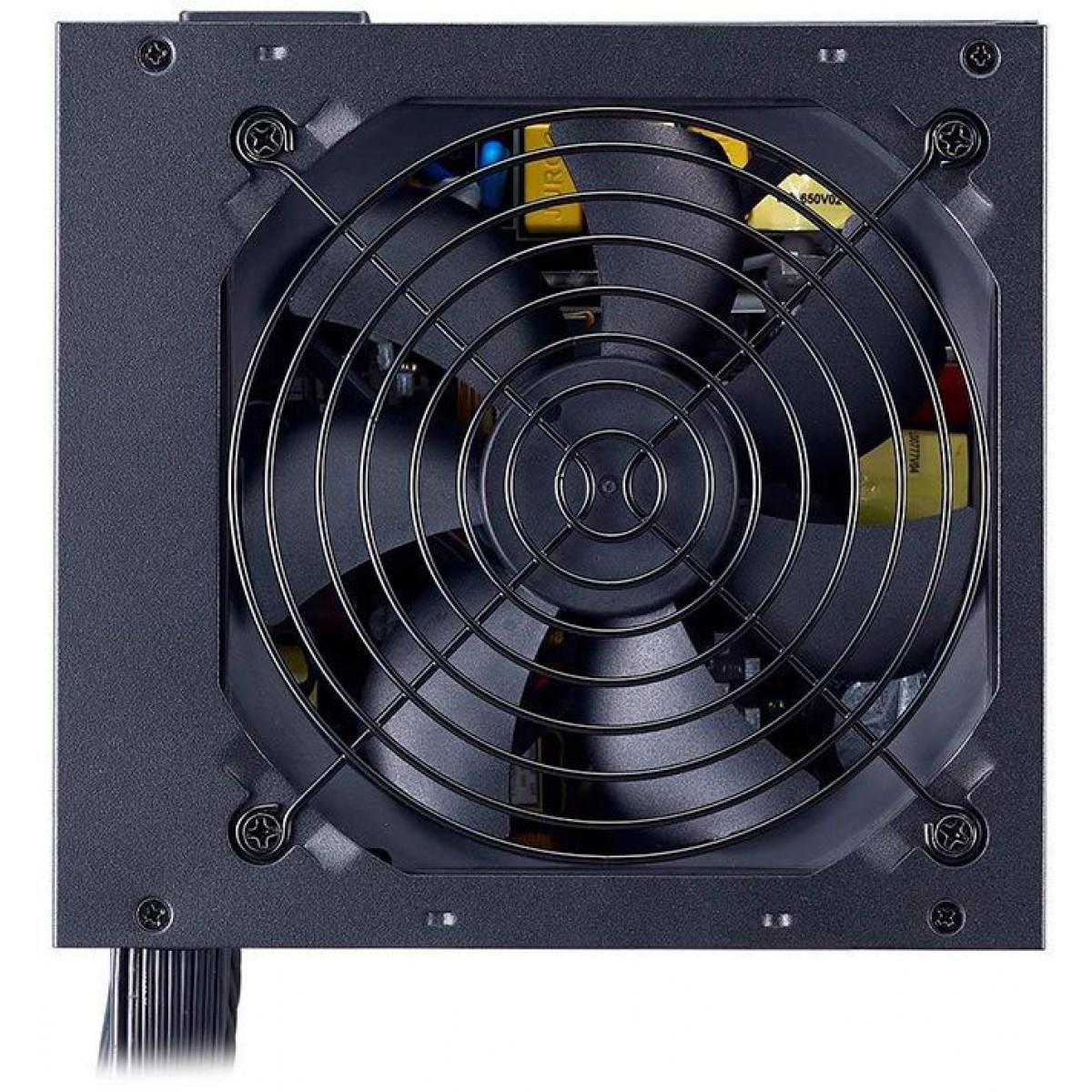 Fonte Cooler Master MWE 650W, 80 Plus White, PFC Ativo, MPE-6501-ACAAW-BR