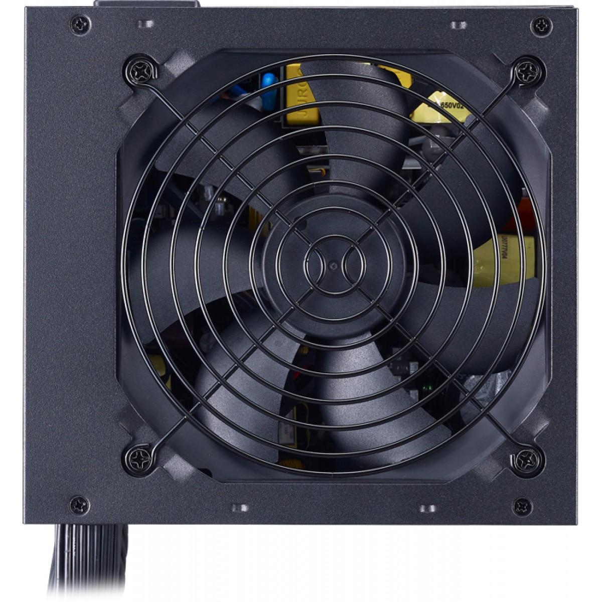 Fonte Cooler Master MWE 650W, 80 Plus White, PFC Ativo, MPE-6501-ACAAW