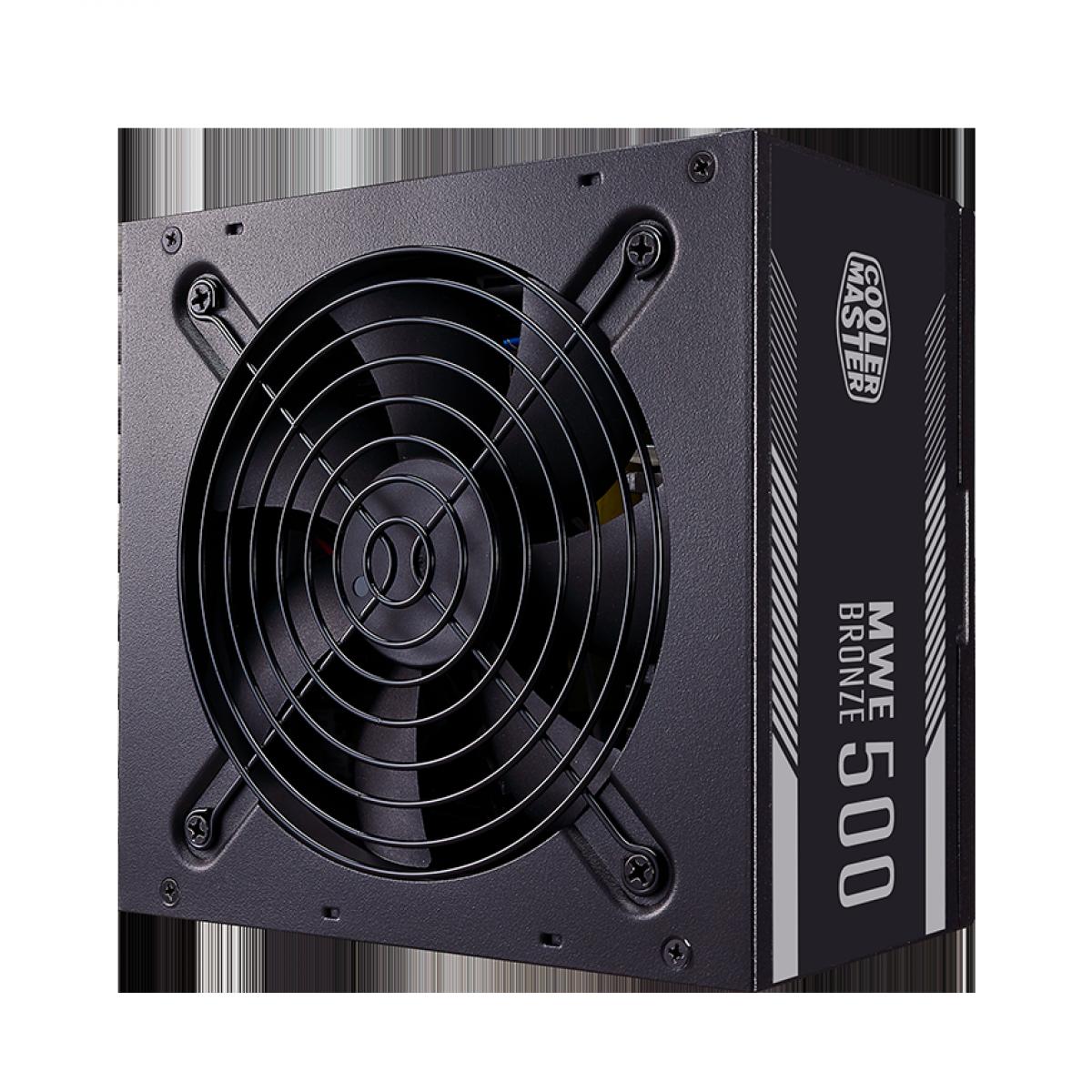 Fonte Cooler Master MWE V2 500W, 80 Plus Bronze, PFC Ativo, MPE-5001-ACAAB-BR