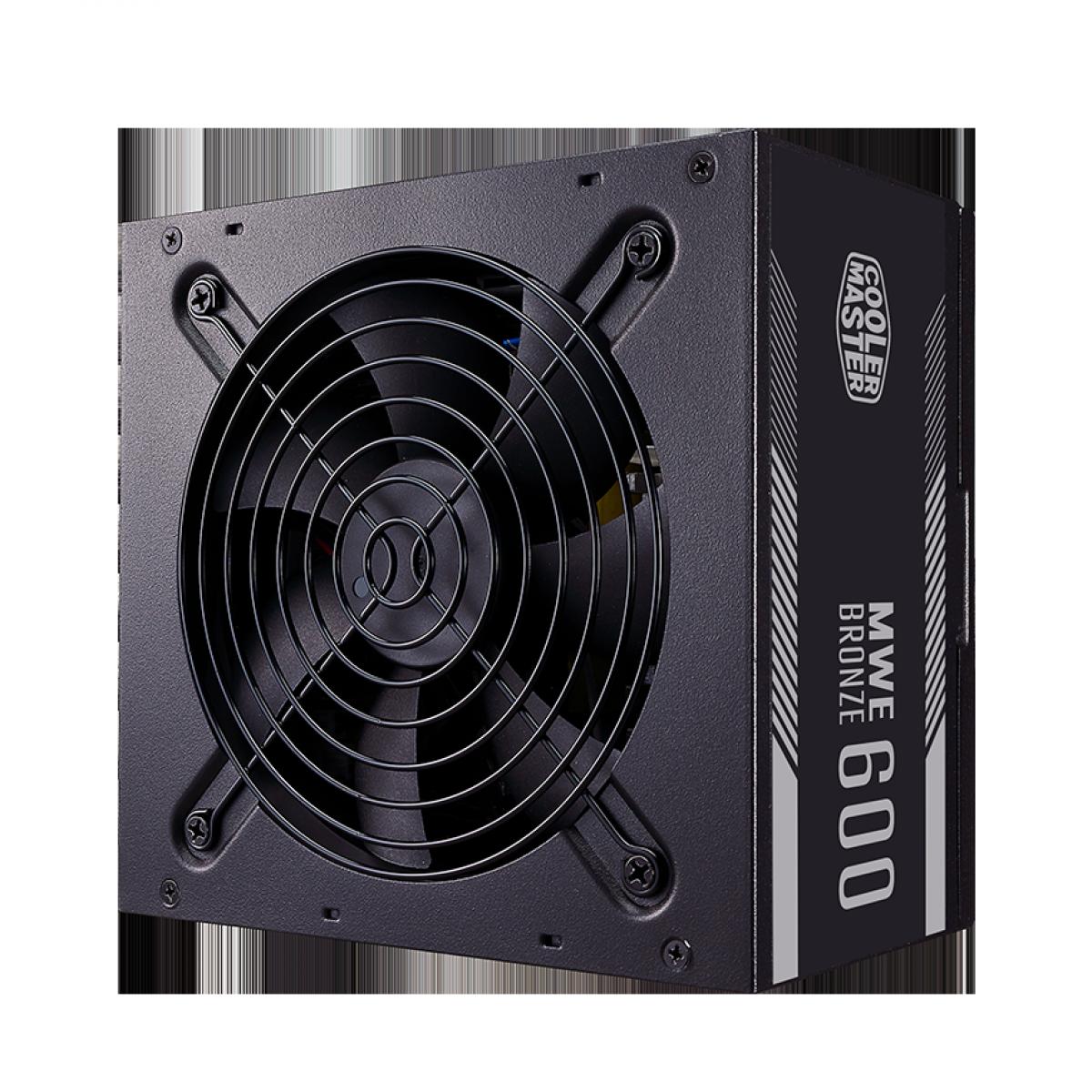 Fonte Cooler Master MWE V2 600W, 80 Plus Bronze, PFC Ativo, MPE-6001-ACAAB-BR