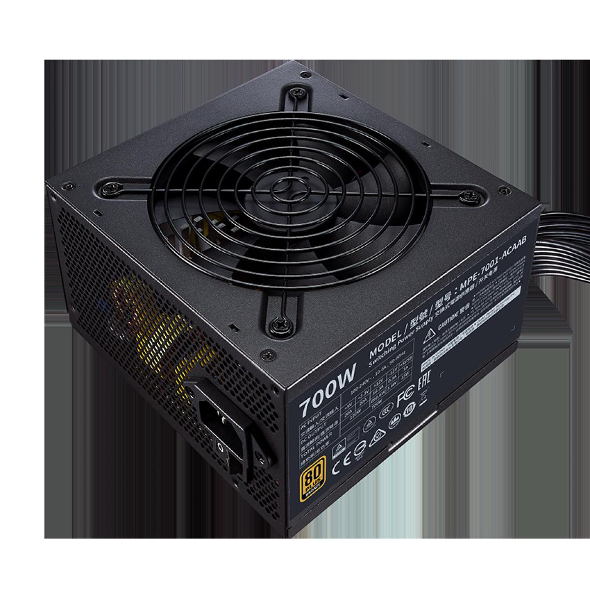 Fonte Cooler Master MWE V2 700W, 80 Plus Bronze, PFC Ativo, MPE-7001-ACAAB-BR - Open Box