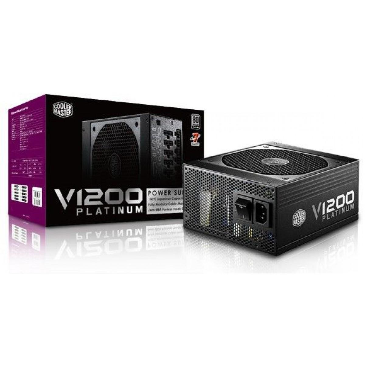 Fonte Cooler Master V1200, 80 Plus Platinum 1200W, PFC Ativo, Modular, RSC00-AFBAG1-WO