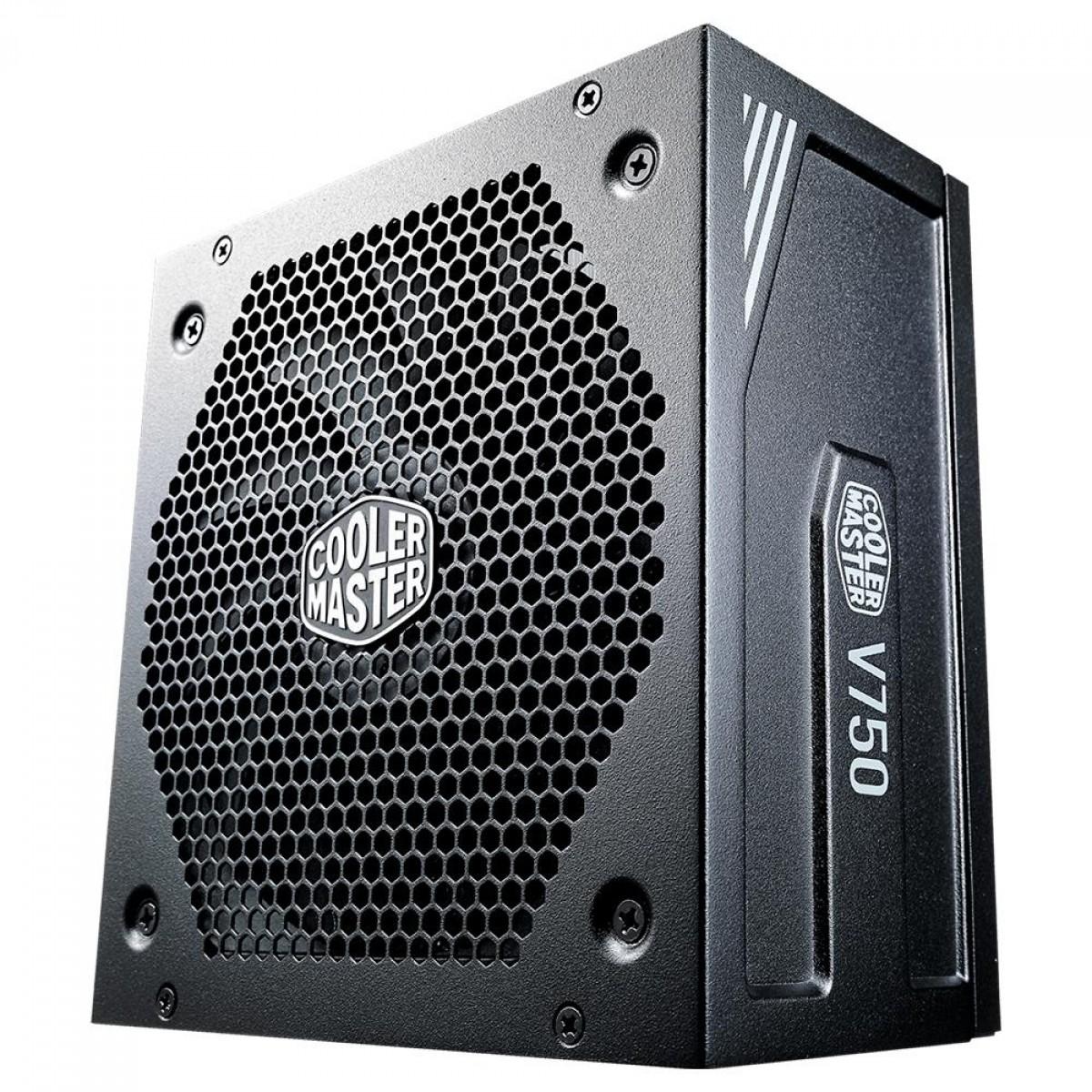Fonte Cooler Master V750 V2 750W, 80 Plus Gold, PFC Ativo, Full Modular, MPY-750V-AFBAG-WO