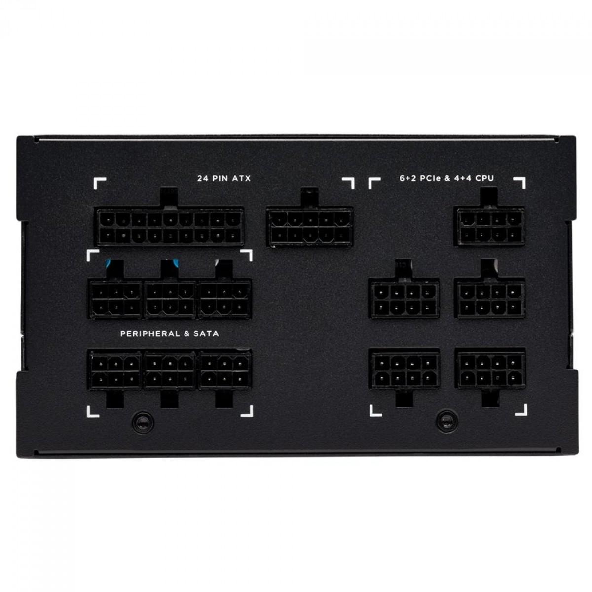 Fonte Corsair AX850, 850W, 80 Plus Titanium, PFC Ativo, Full Modular, Black, CP-9020151-WW
