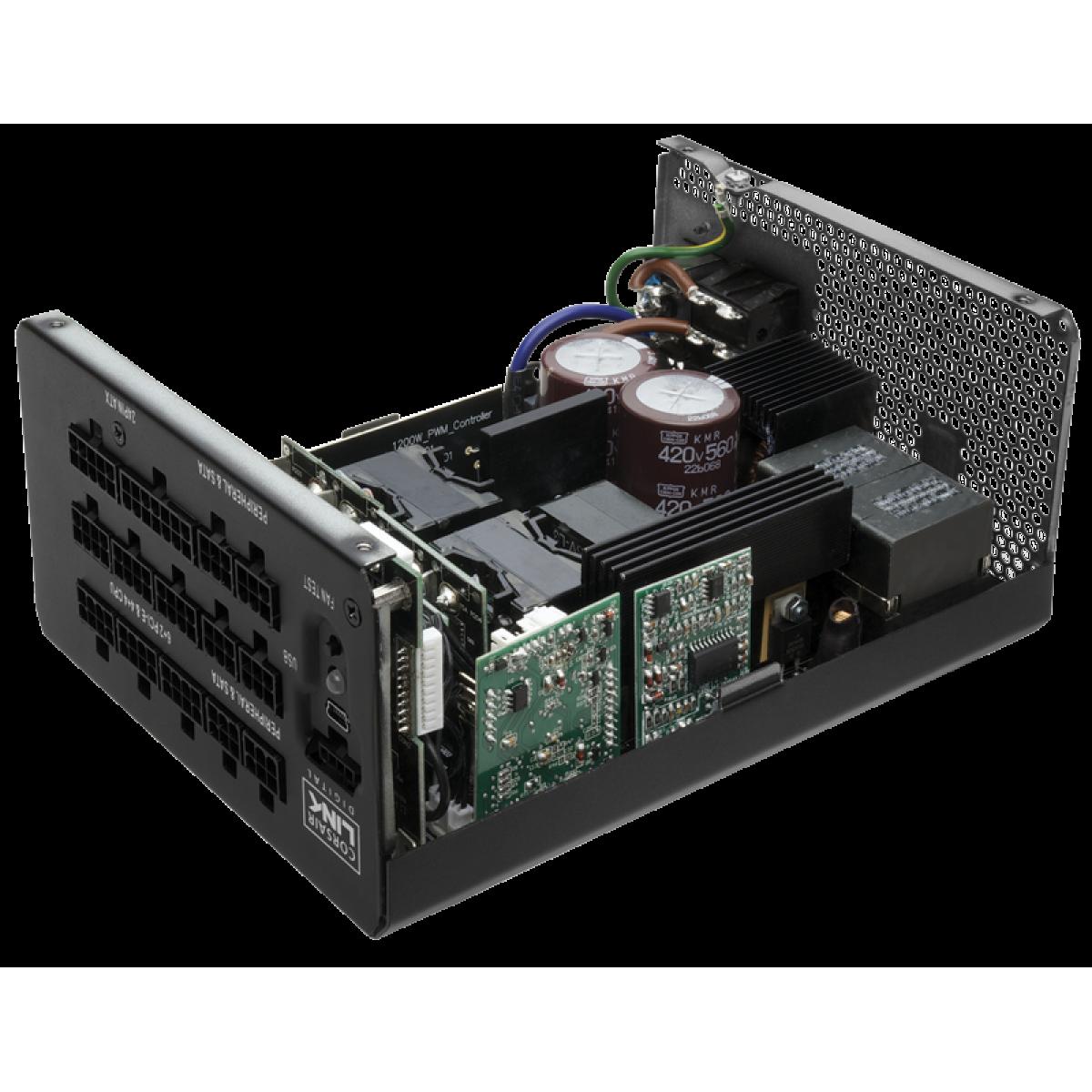 Fonte Corsair HX1200i 1200W, 80 Plus Platinum, PFC Ativo, Full Modular, CP-9020070-WW