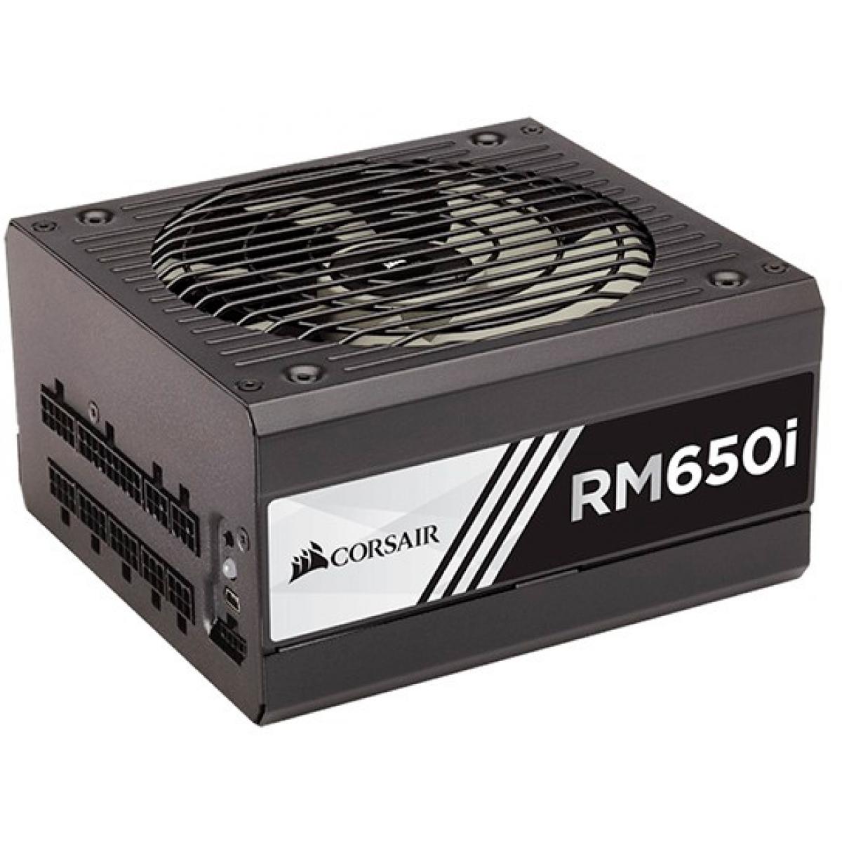 Fonte Corsair RM650i 650W, 80 Plus Gold, PFC Ativo, Full Modular, CP-9020081-WW