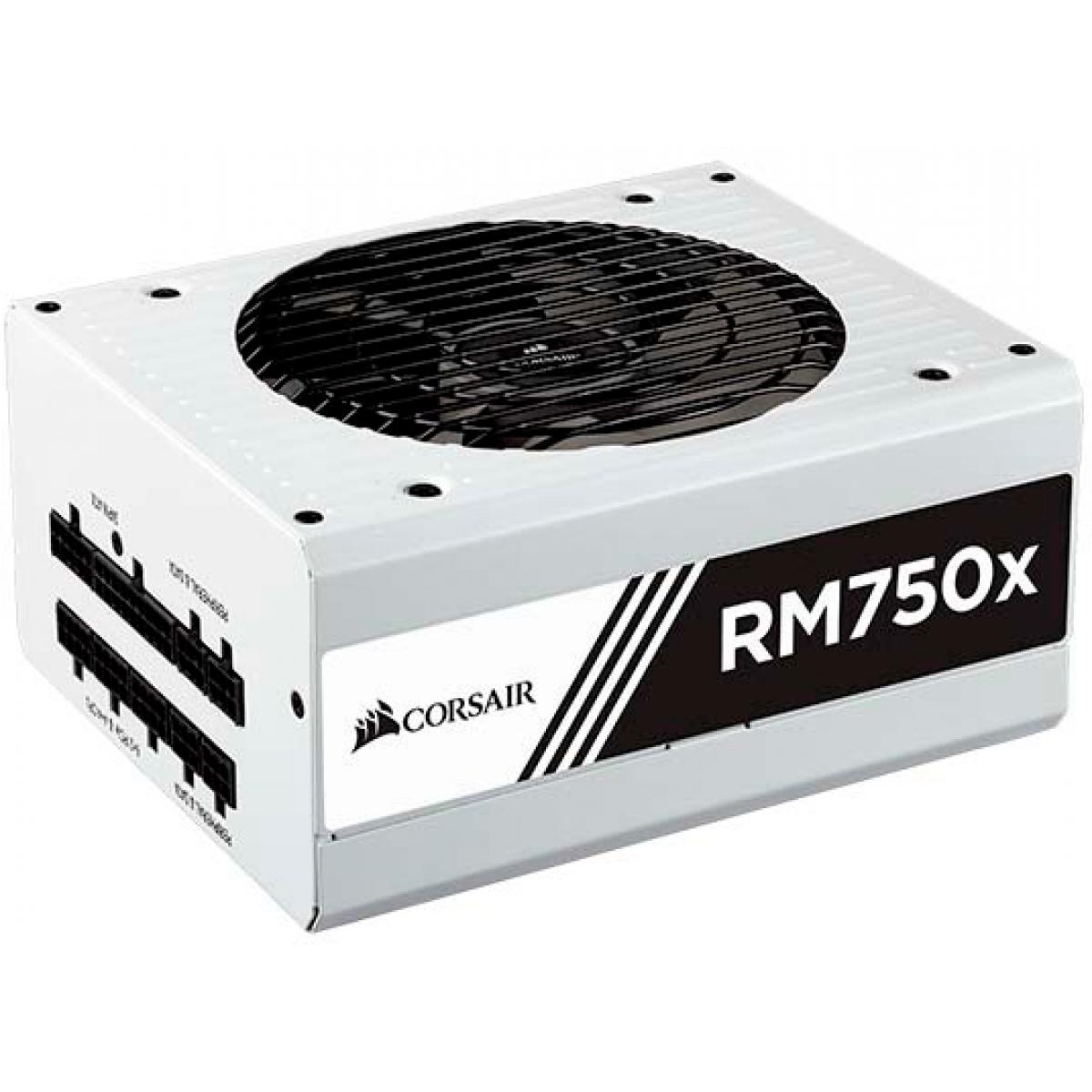 Fonte Corsair RM750x 750W, 80 Plus Gold, PFC Ativo, Full Modular, White, CP-9020155-WW