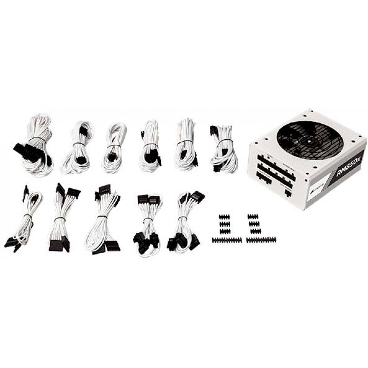 Fonte Corsair  RM850x 850W, 80 Plus Gold, PFC Ativo, Full Modular, White, CP-9020156-WW