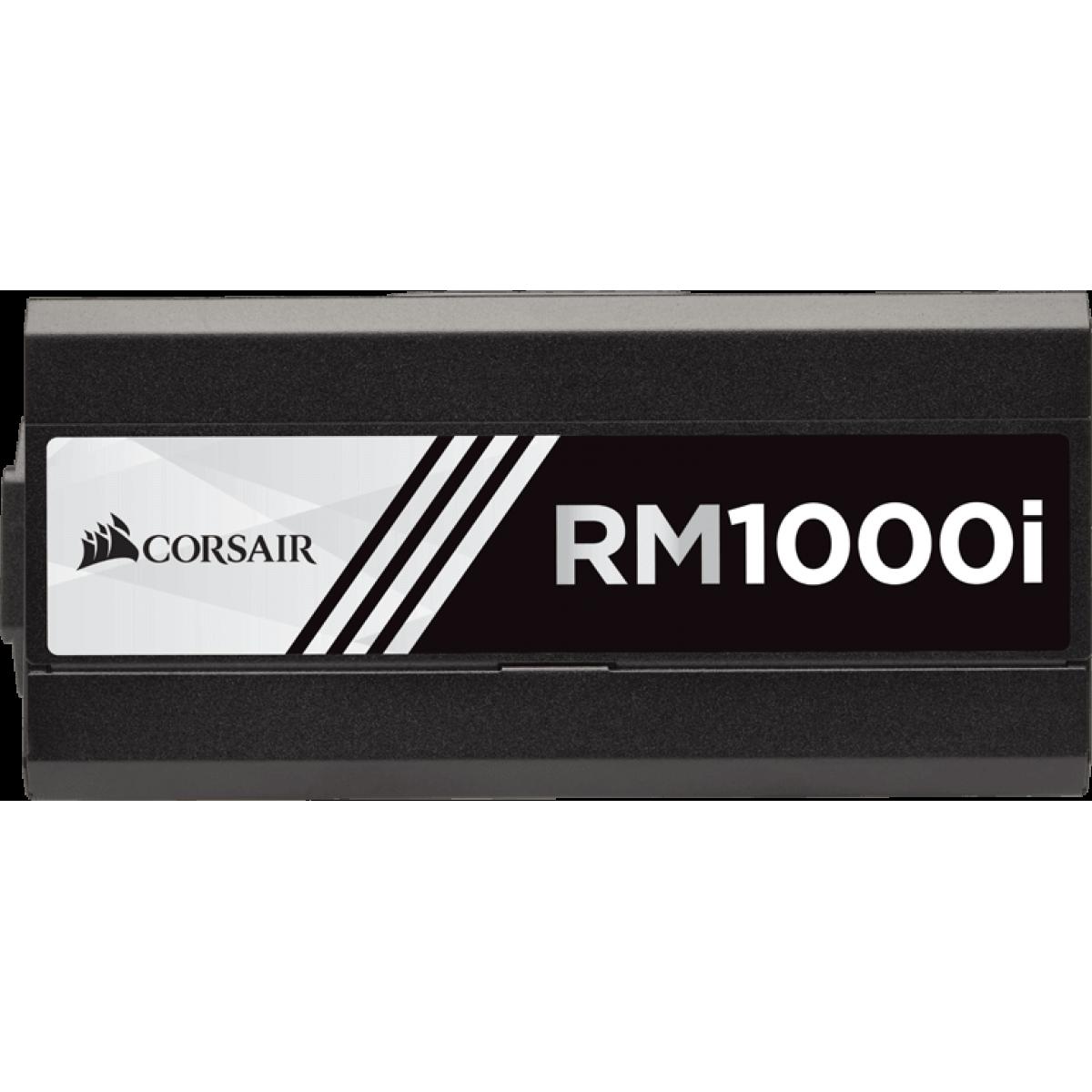 Fonte Corsair RM1000i 1000W, 80 Plus Gold, PFC Ativo, Full Modular, CP-9020084-WW