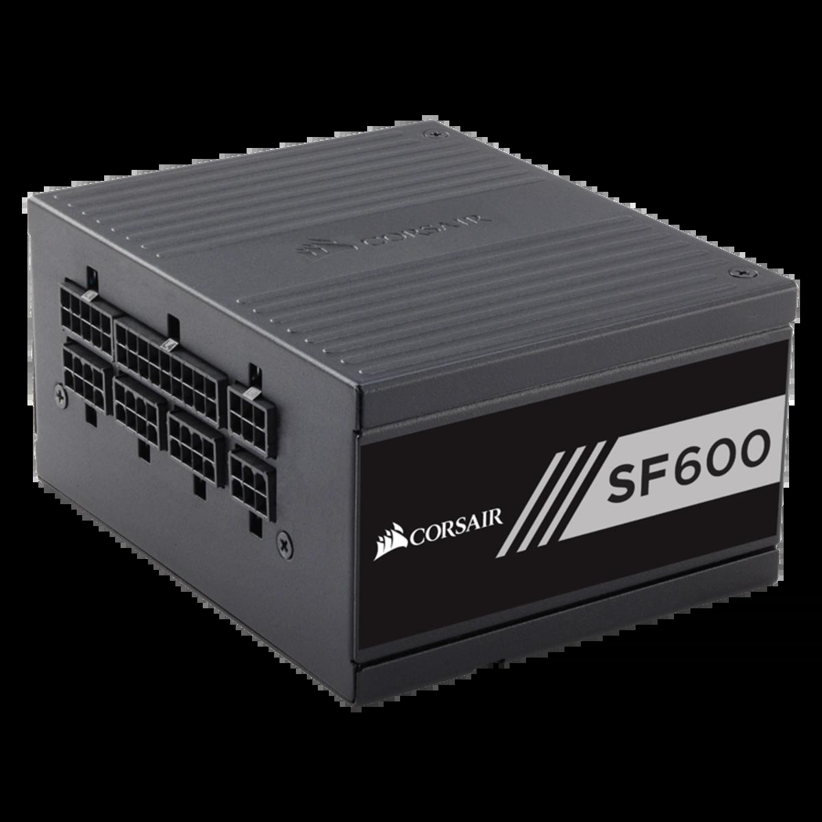 Fonte Corsair SFX SF600 600W, 80 Plus Gold, Modular, PFC Ativo, CP-9020105-WW