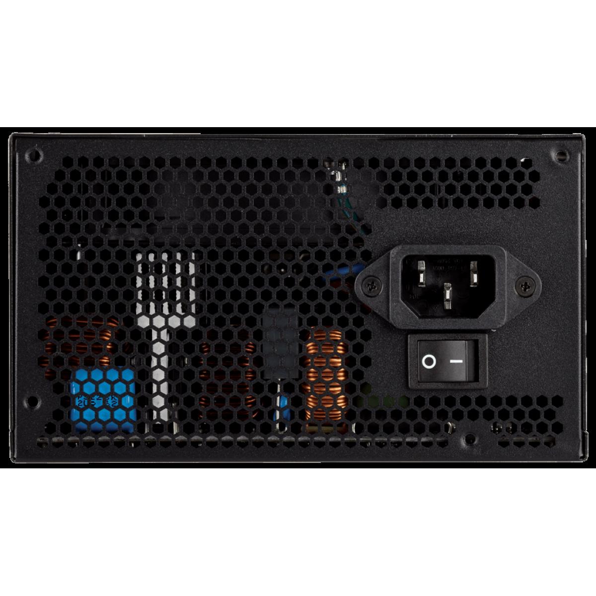 Fonte Corsair TX750M 750W, 80 Plus Gold, PFC Ativo, Semi Modular, CP-9020131-W