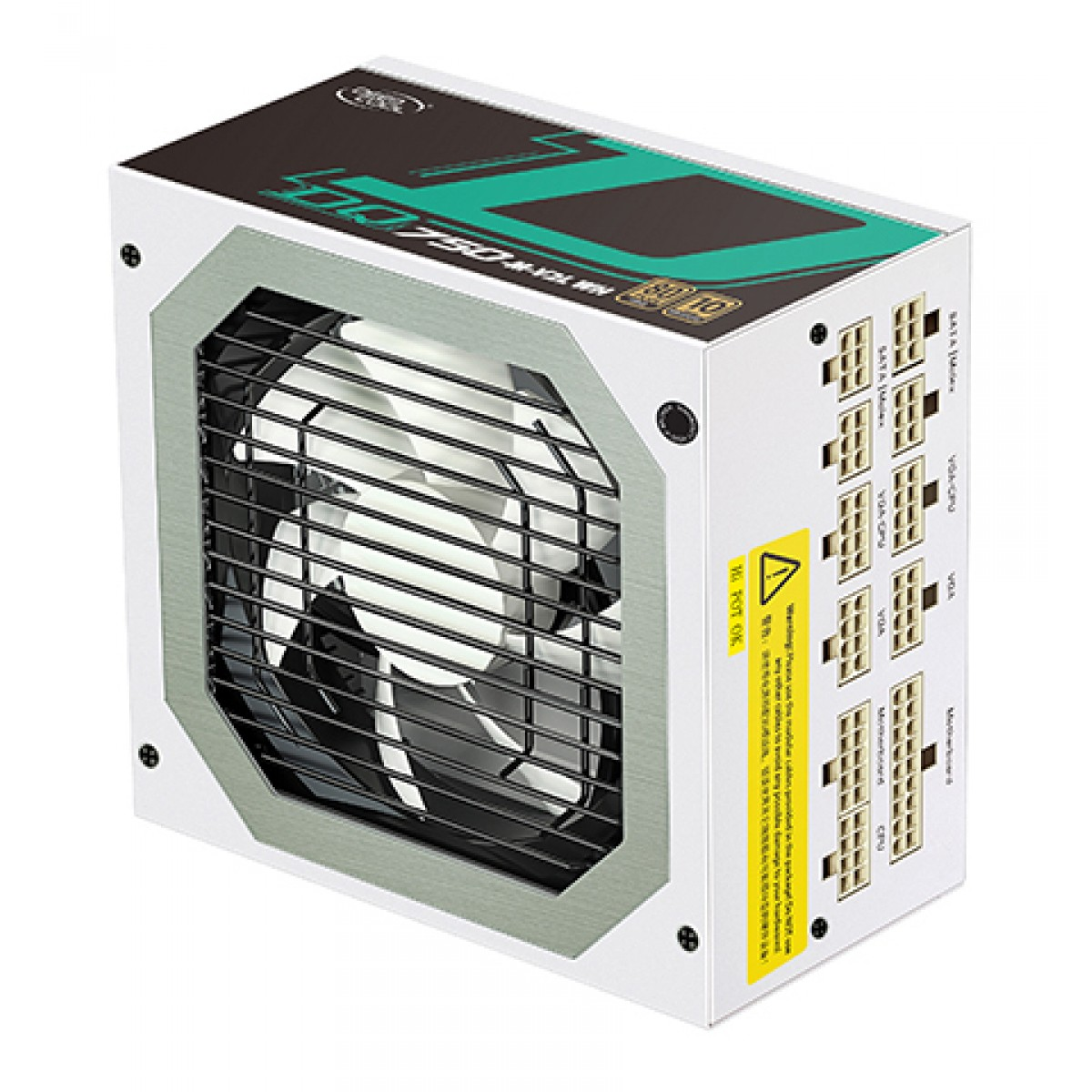 Fonte DeepCool DQ750, 750W, 80 Plus Gold, PFC Ativo, White, Full Modular, DP-DQ750-M-V2L-WH