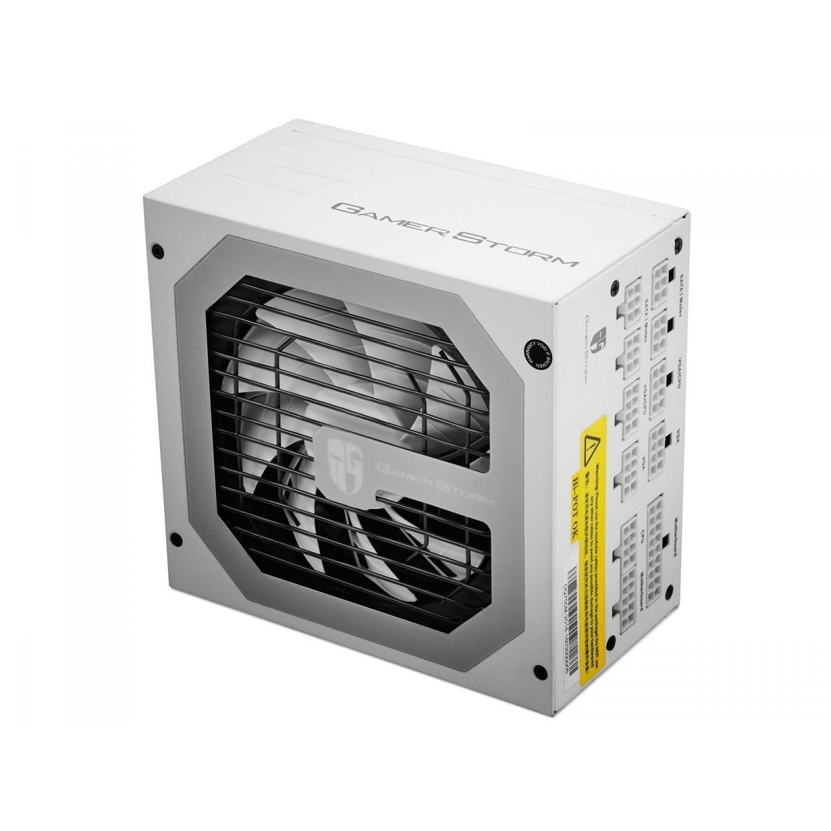 Fonte DeepCool GamerStorm DQ750M 750W, 80 Plus Gold, Modular, PFC Ativo, White