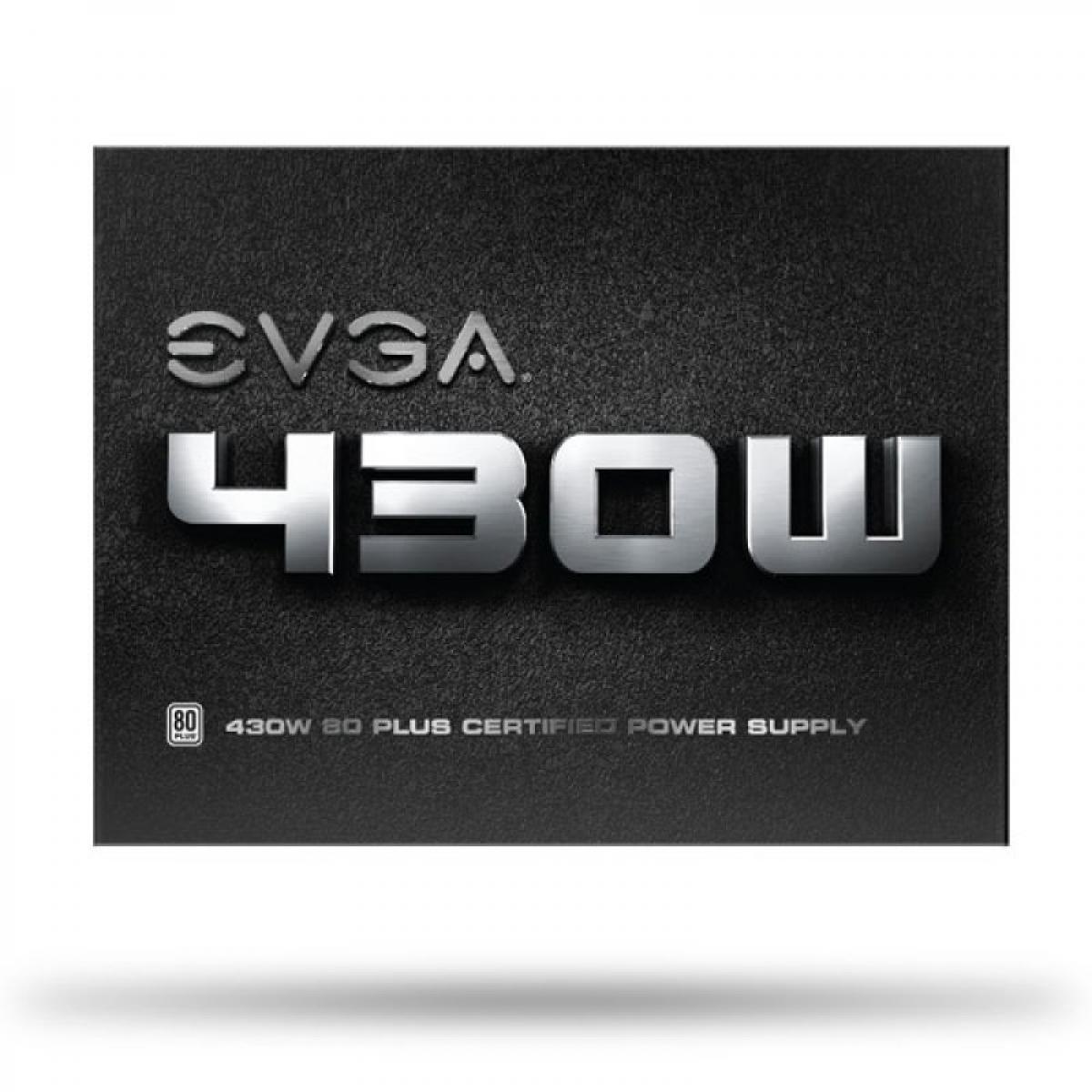 Fonte EVGA 430 W1 430W, 80 Plus White, PFC Ativo, 100-W1-0430-KR