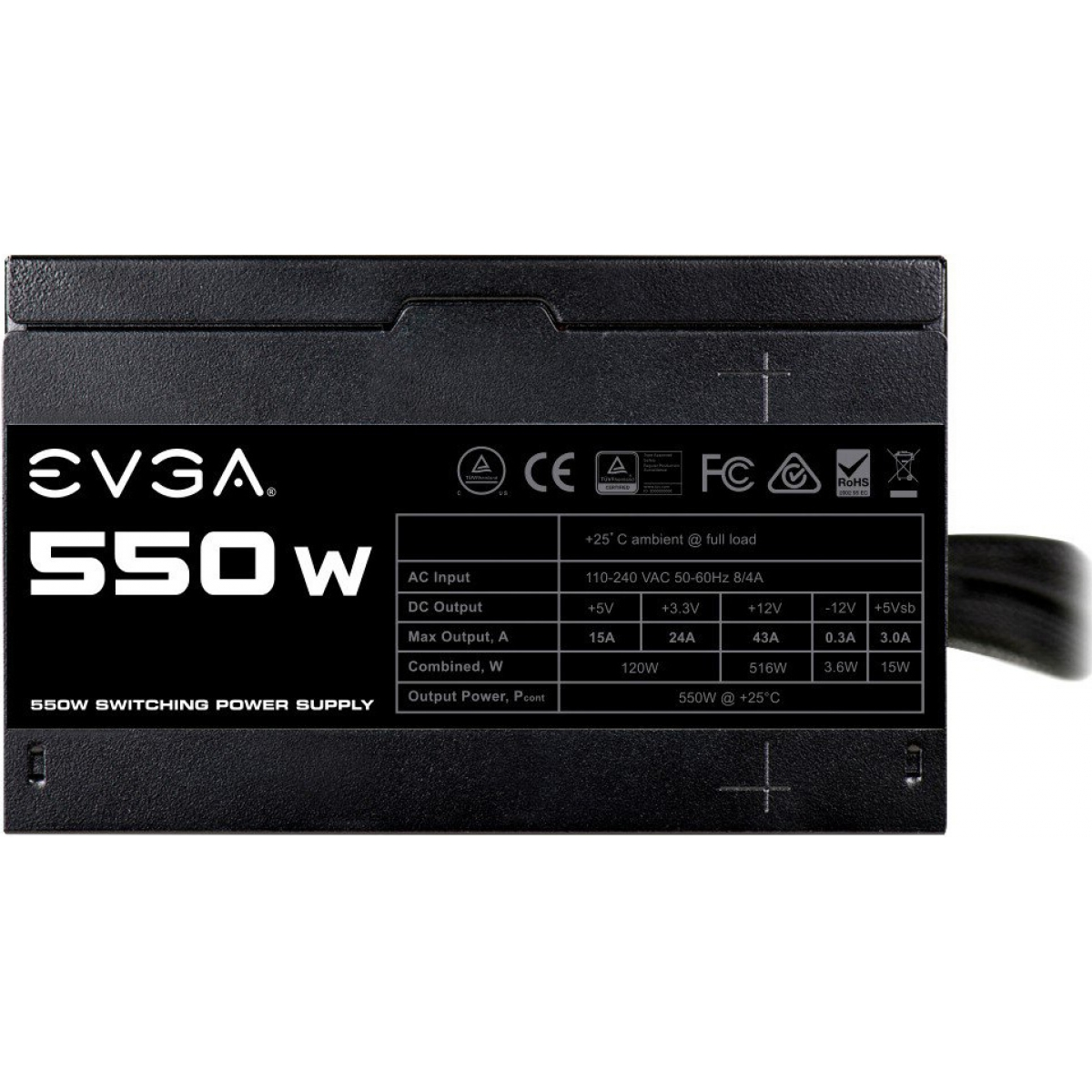 Fonte EVGA 550W, Pfc Ativo, 100-N1-0550-L