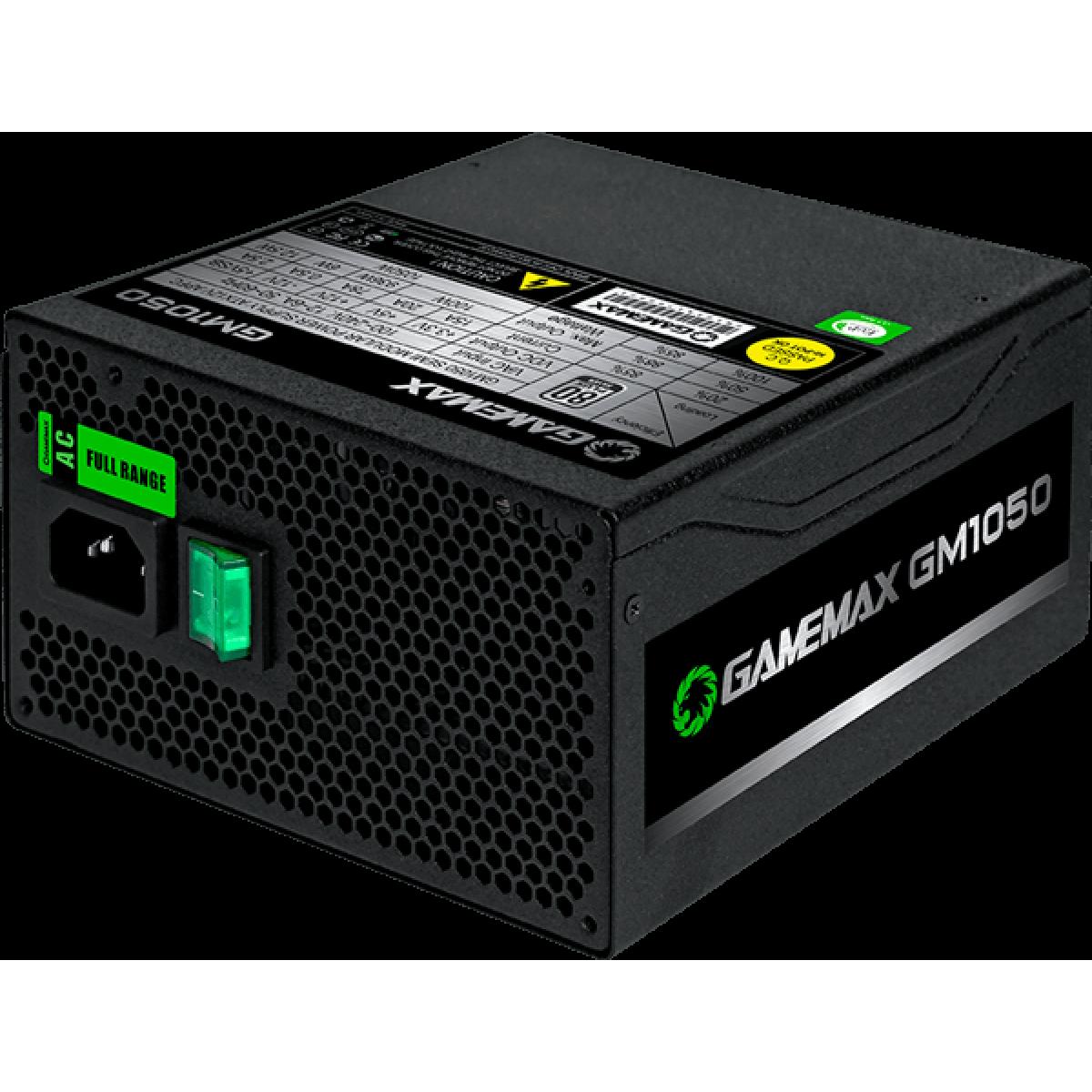 Fonte Gamemax GM1050 1050W, 80 Plus Silver, PFC Ativo