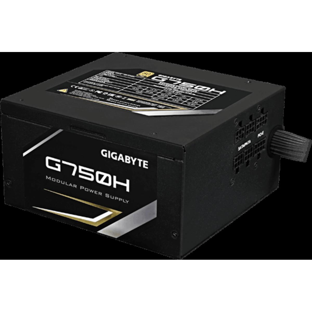 Fonte Gigabyte G750H 750W, 80 Plus Gold, PFC Ativo, Semi Modular, GP-G750H