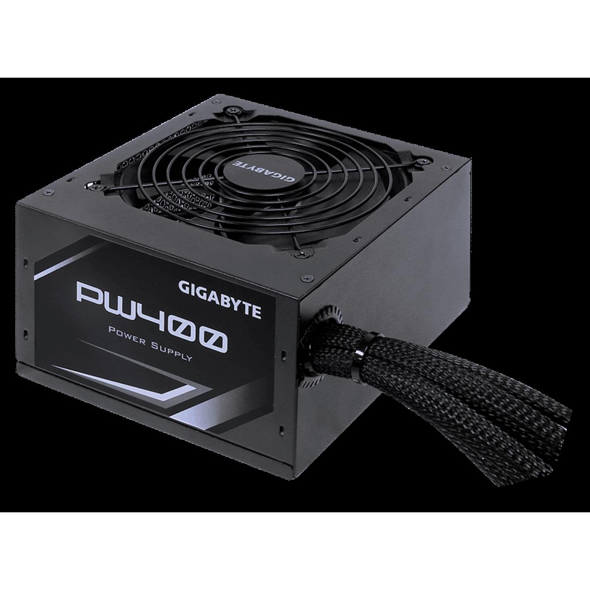 Fonte Gigabyte PW400 400W, 80 Plus White, PFC Ativo, GP-PW400