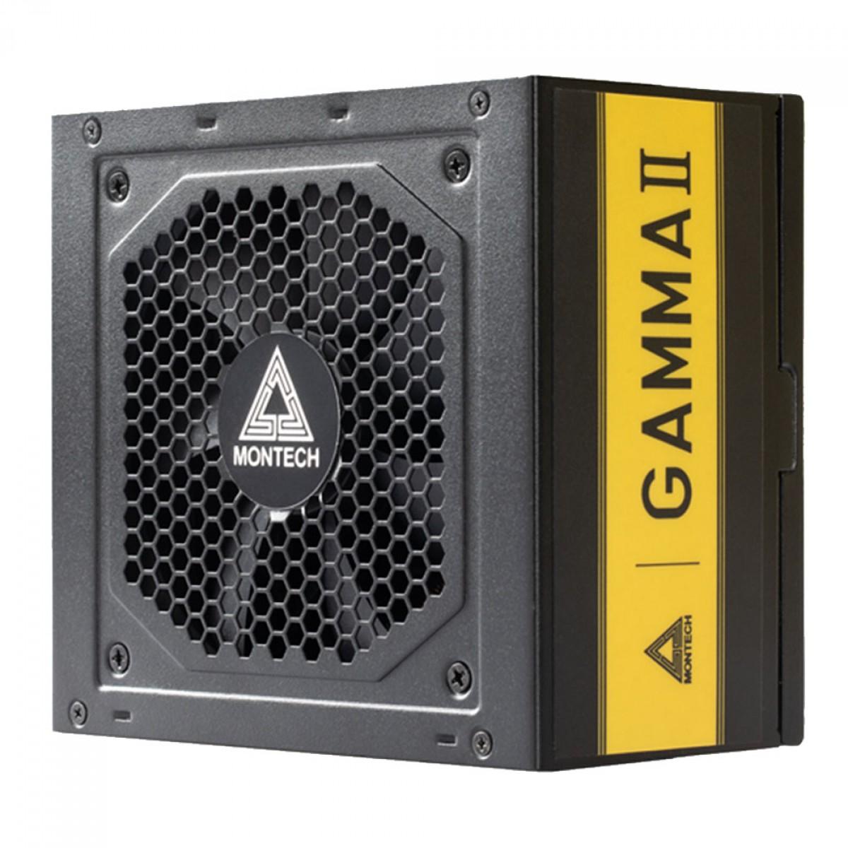 Fonte Montech GAMMA II Gold 550W, 80 Plus Gold, PFC Ativo