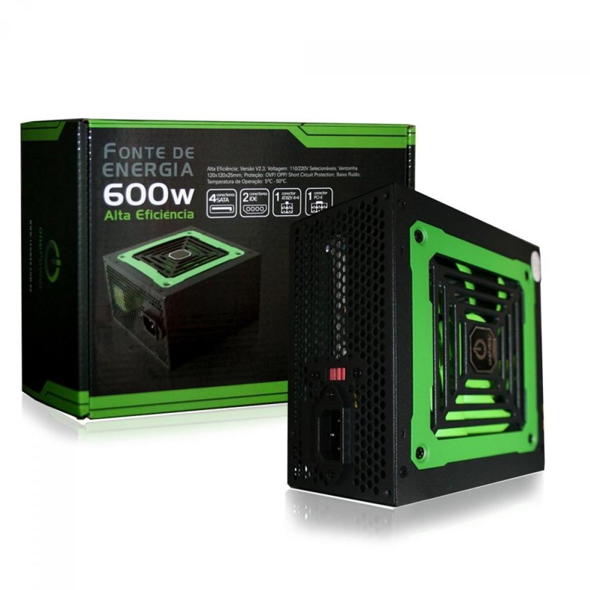 Fonte OnePower ATX 600W - MP600W3-I