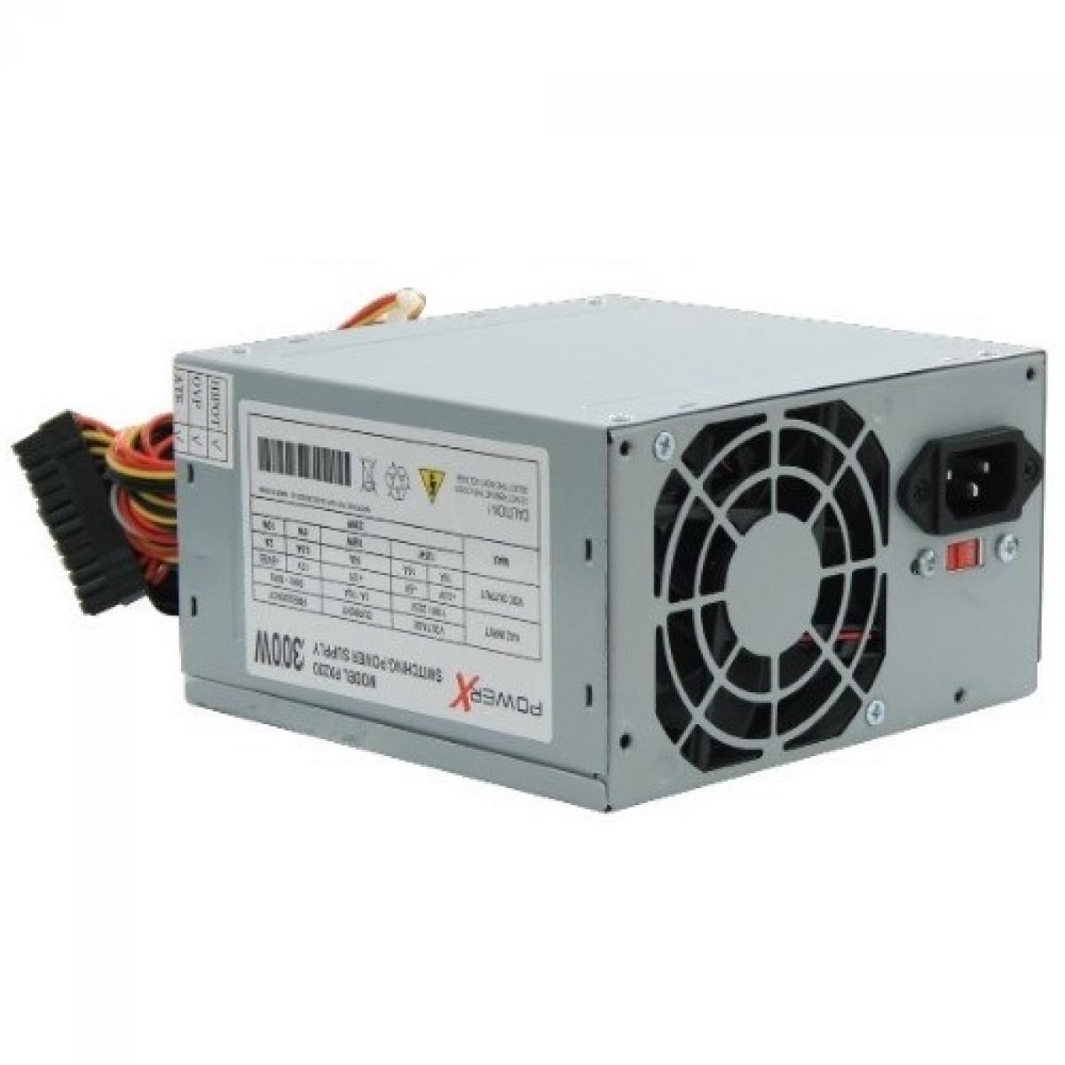 Fonte PowerX 300W PX300 ATX Sata, OEM