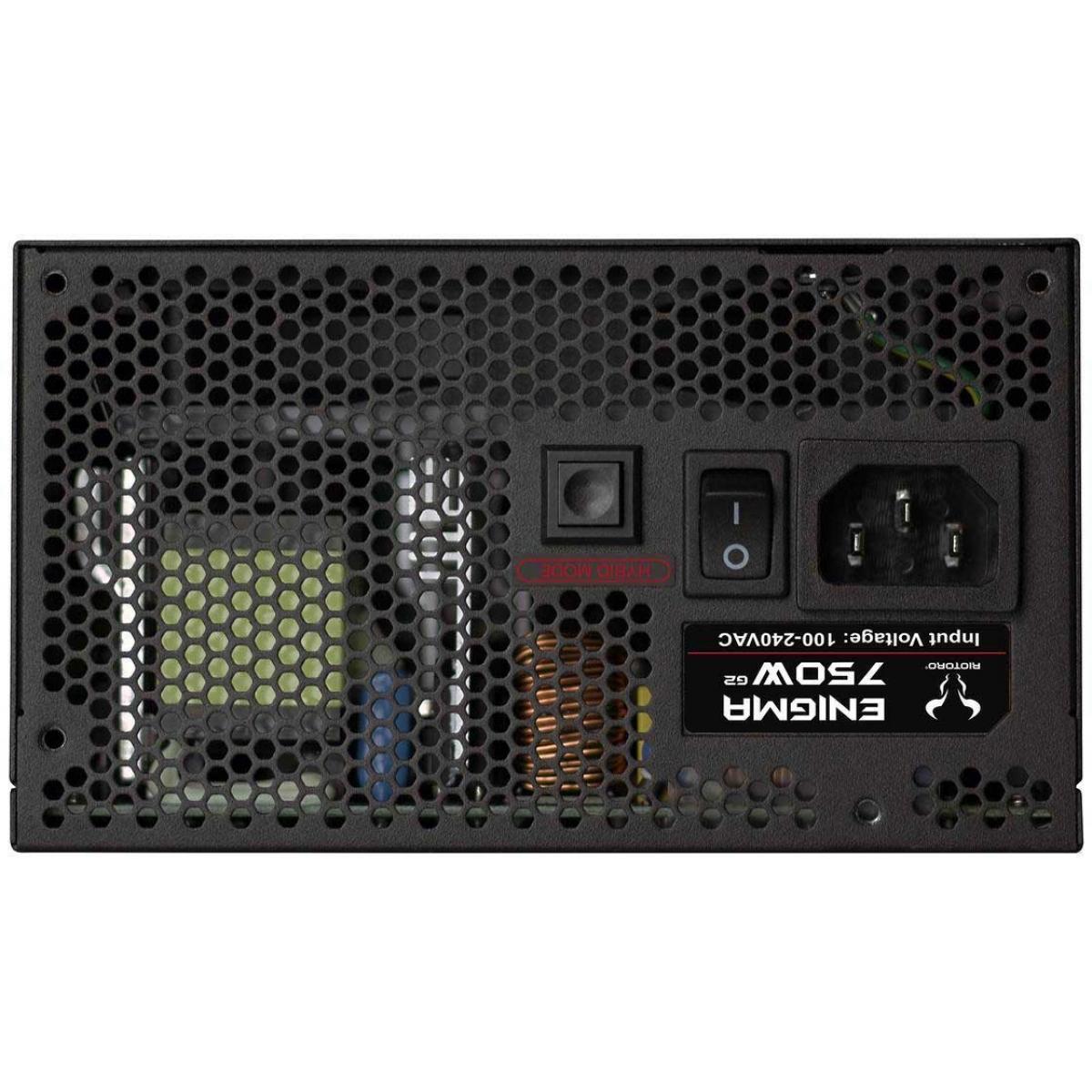 Fonte Riotoro Enigma G2 750W, 80 Plus Gold, PFC Ativo, Full Modular, PR-GP0750-FMG2-NA